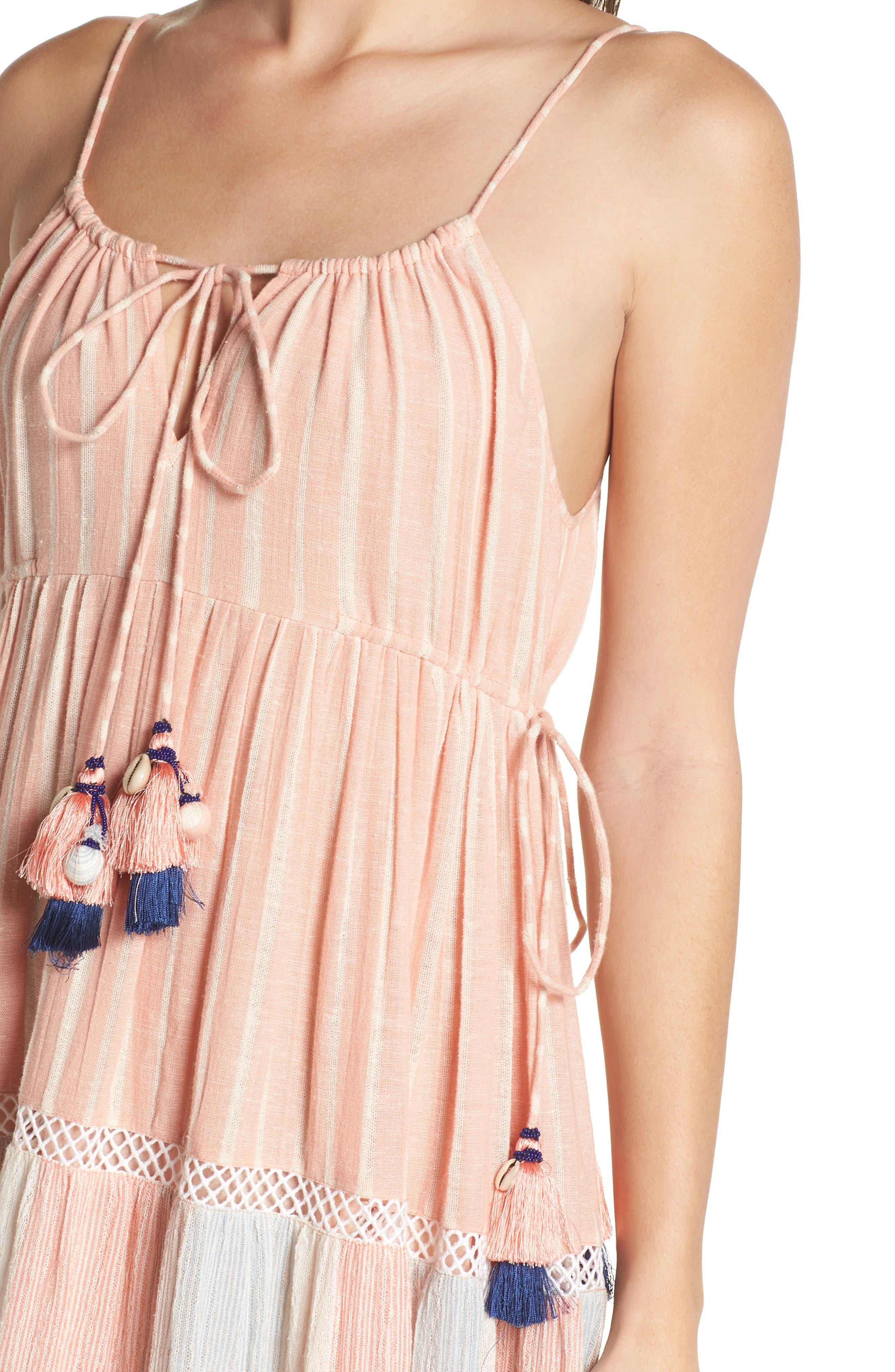 Hemant & Nandita Cover-Up Maxi Dress,                             Alternate thumbnail 4, color,                             Peach