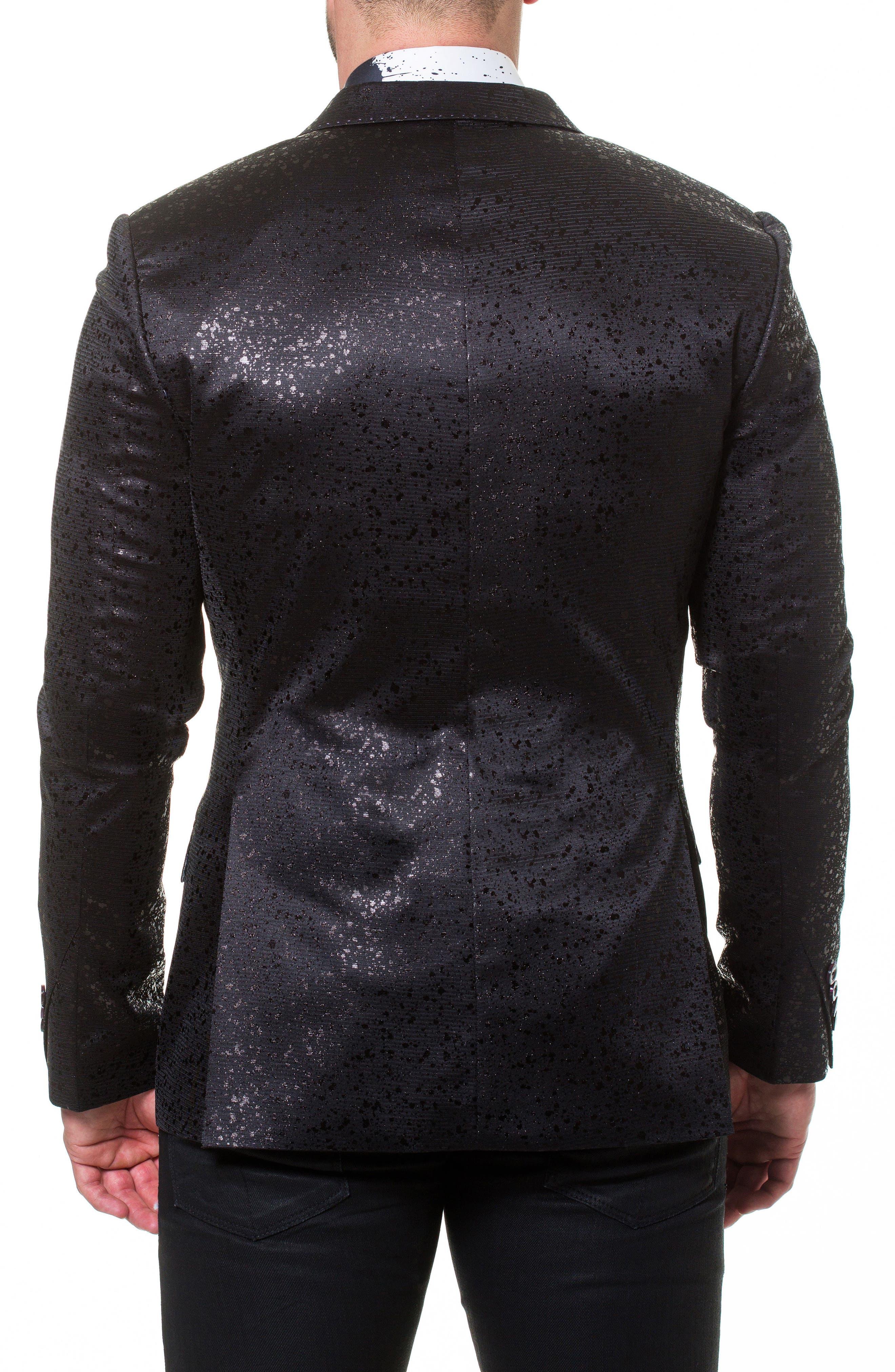 Elegance Splatter Sport Coat,                             Alternate thumbnail 2, color,                             Black