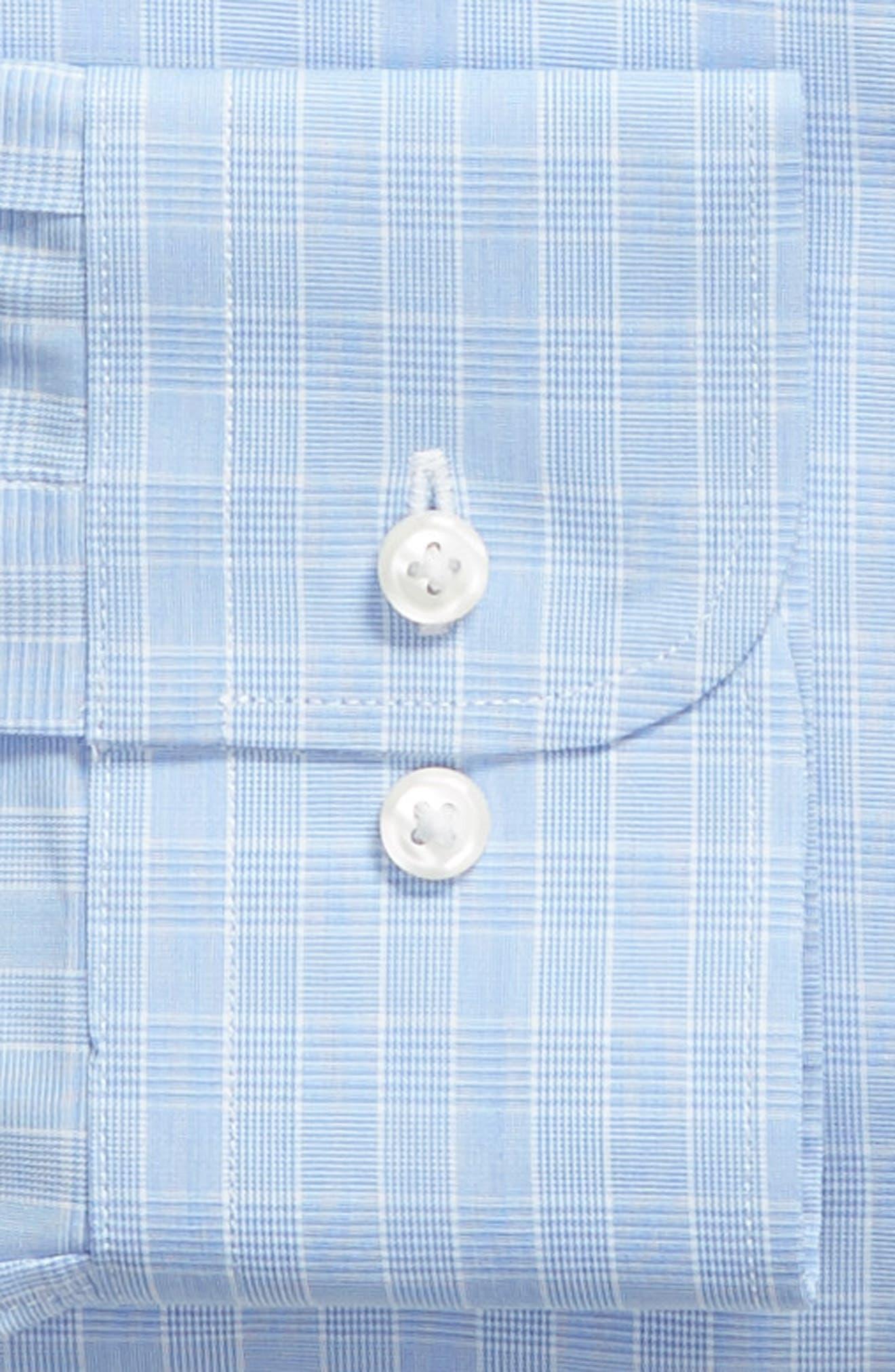 Traditional Fit Dress Shirt,                             Alternate thumbnail 5, color,                             Blue Bel Air