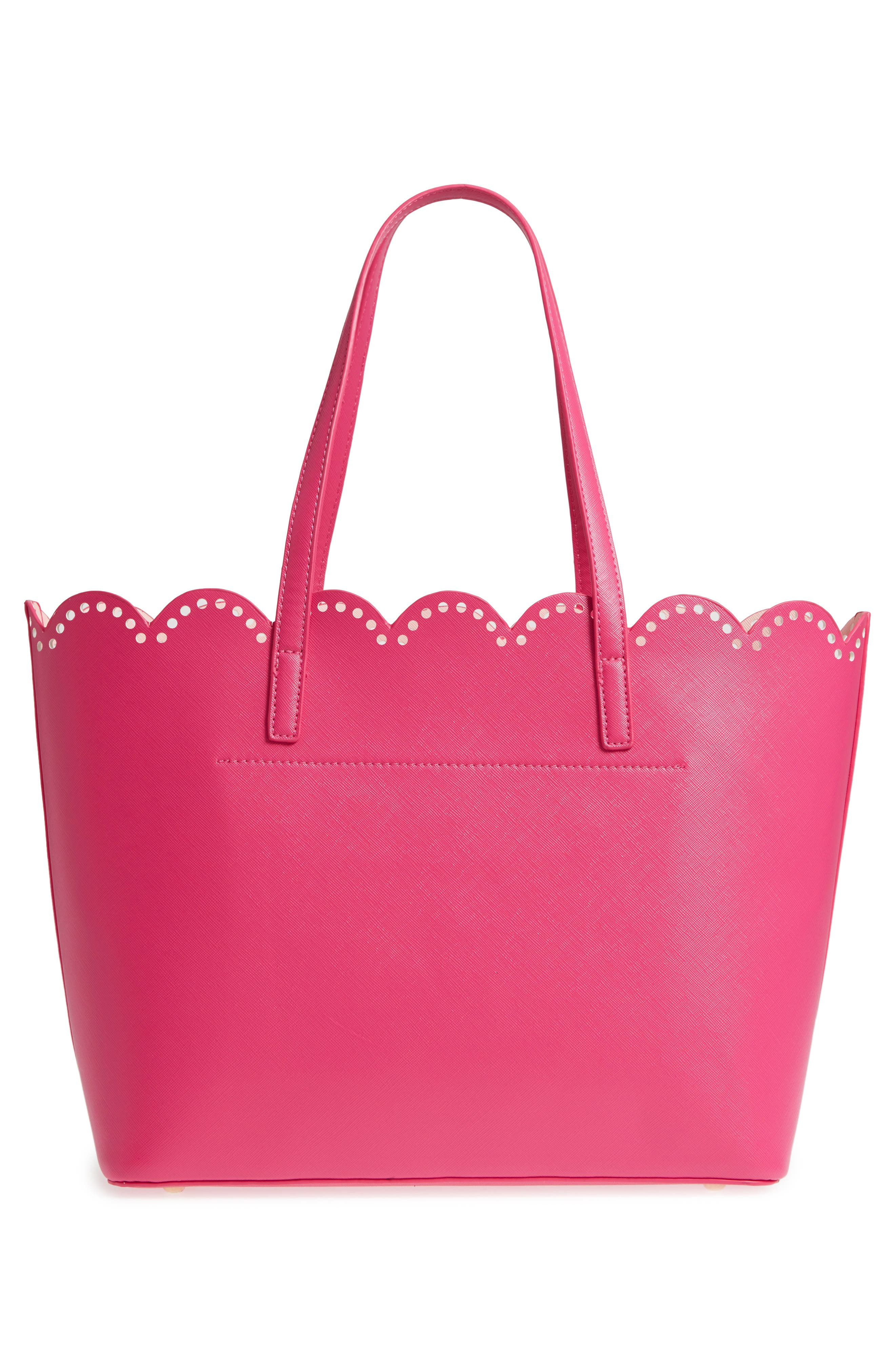 Alternate Image 3  - BP. Scalloped Faux Leather Tote