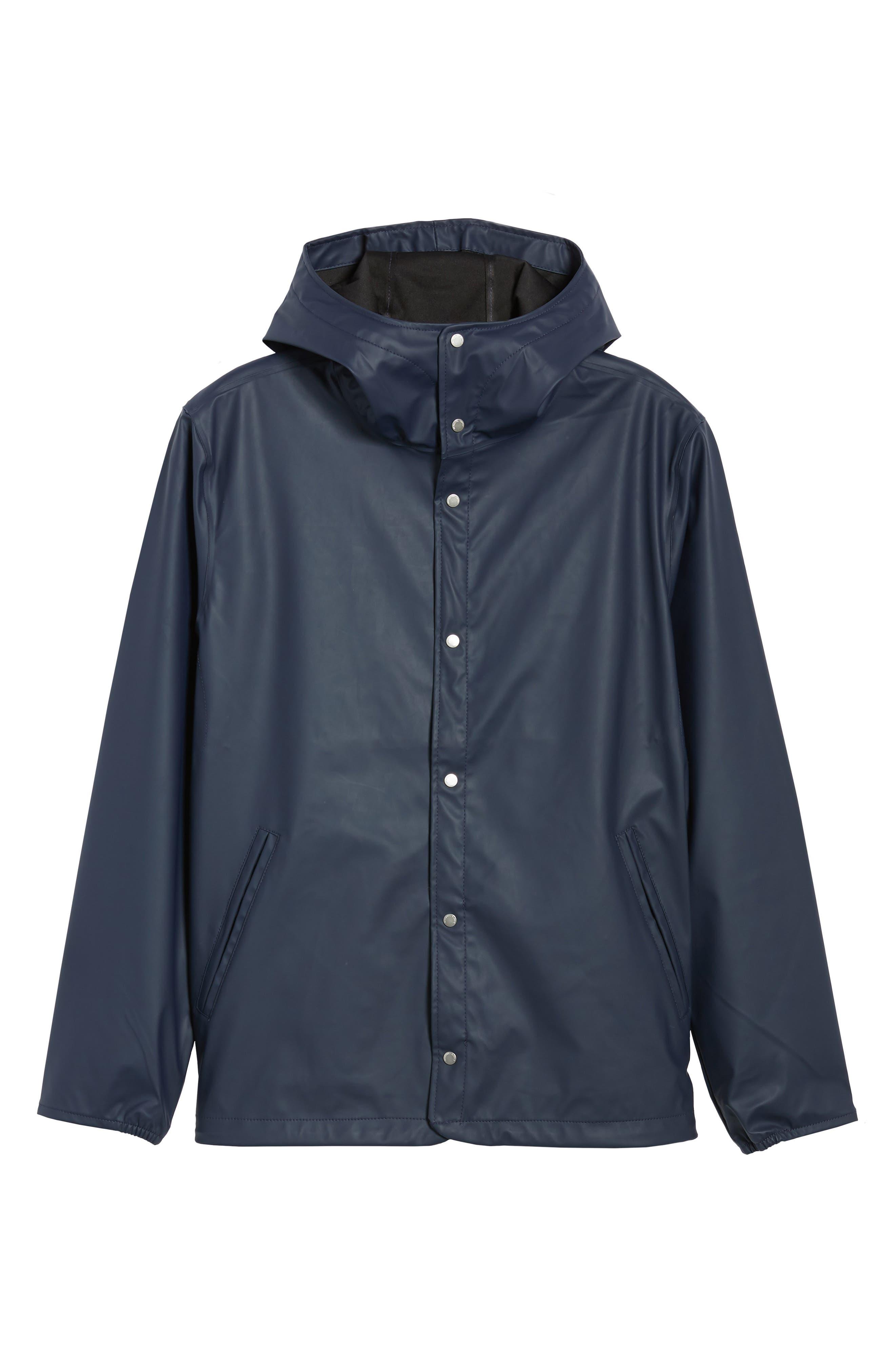Forecast Hooded Coaches Jacket,                         Main,                         color, Peacoat/ Peacoat