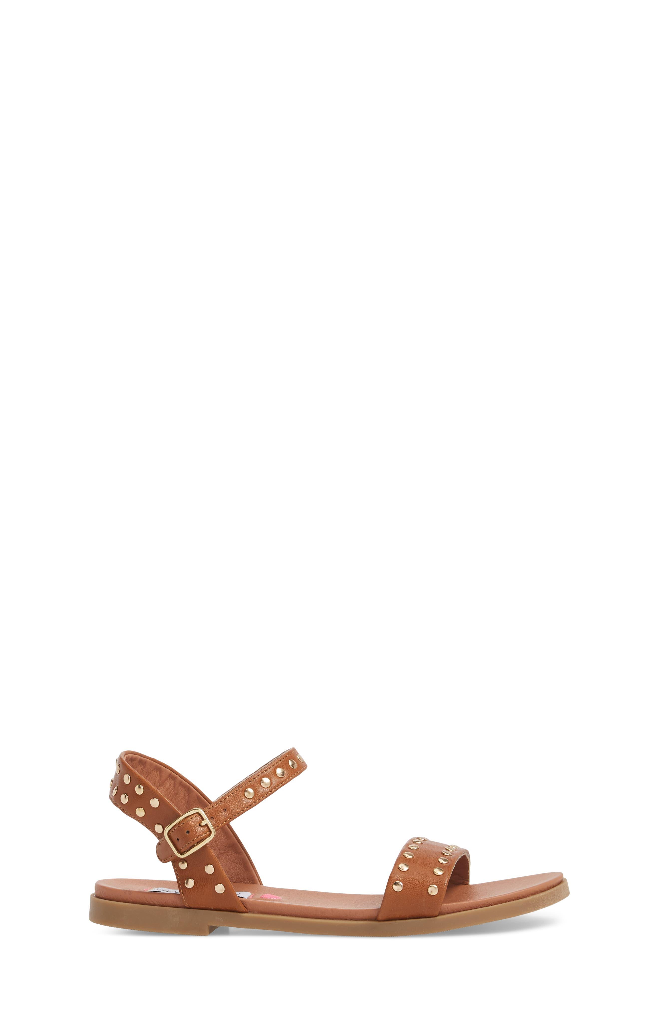 JDONDI Studded Sandal,                             Alternate thumbnail 3, color,                             Cognac
