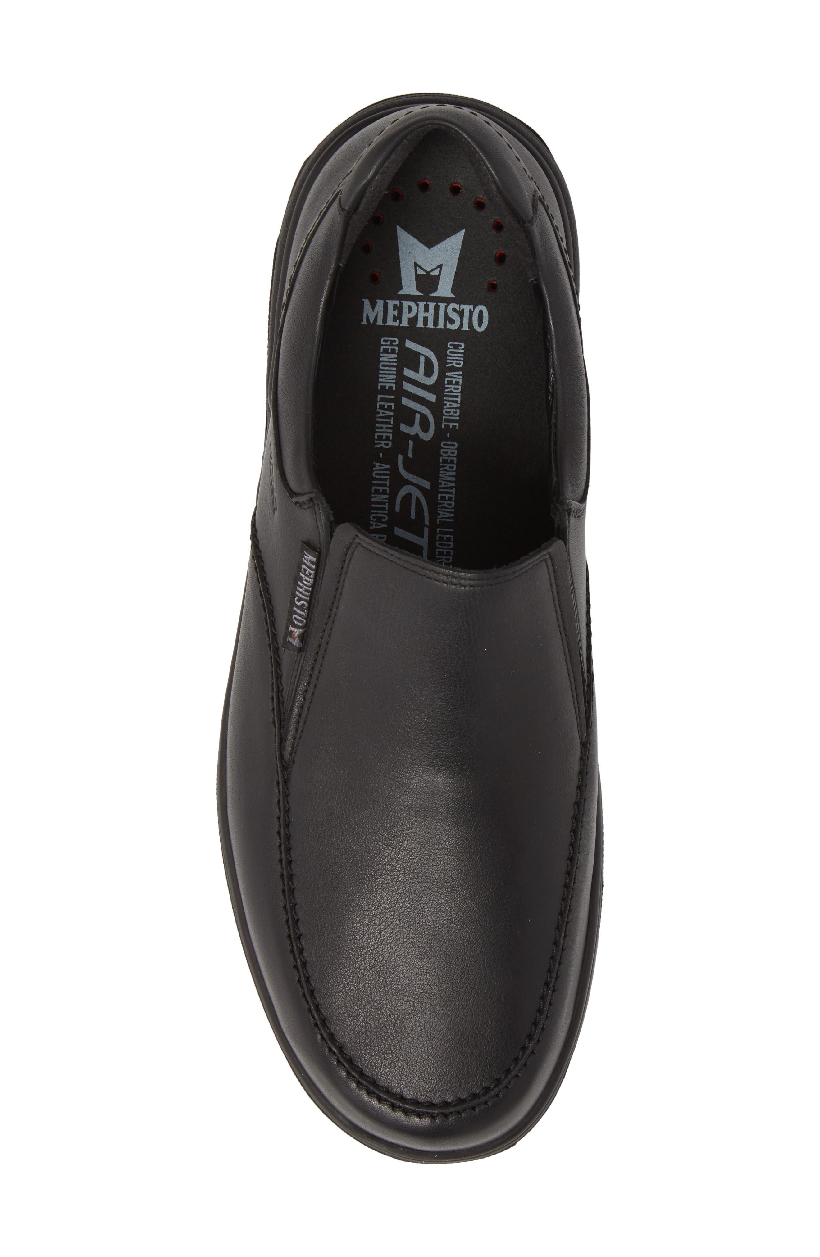 Davy Slip-On Men),                             Alternate thumbnail 5, color,                             Black Leather