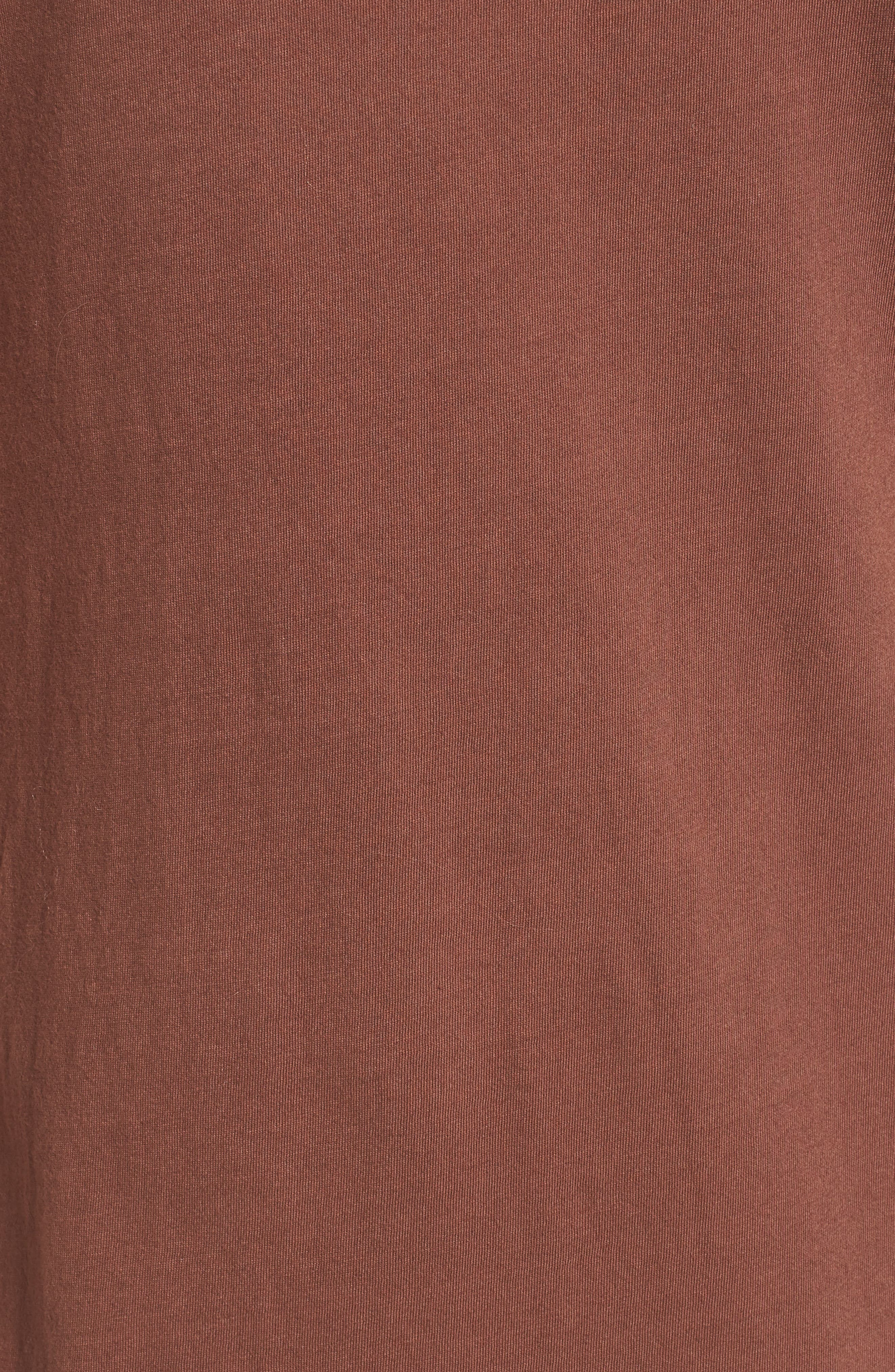 Alana Side Slit T-Shirt Dress,                             Alternate thumbnail 6, color,                             Nutmeg