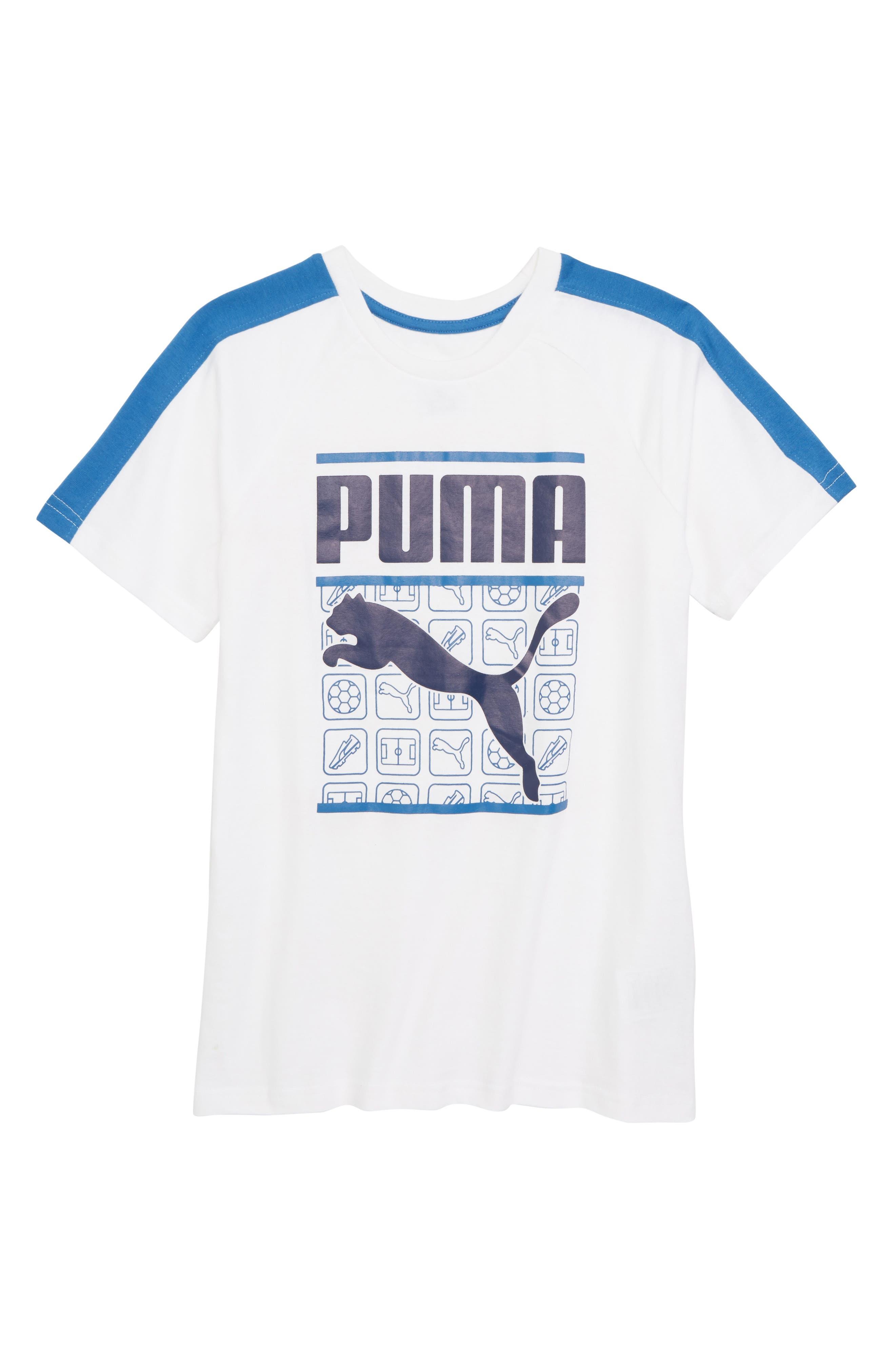 PUMA Graphic Raglan T-Shirt (Big Boys)