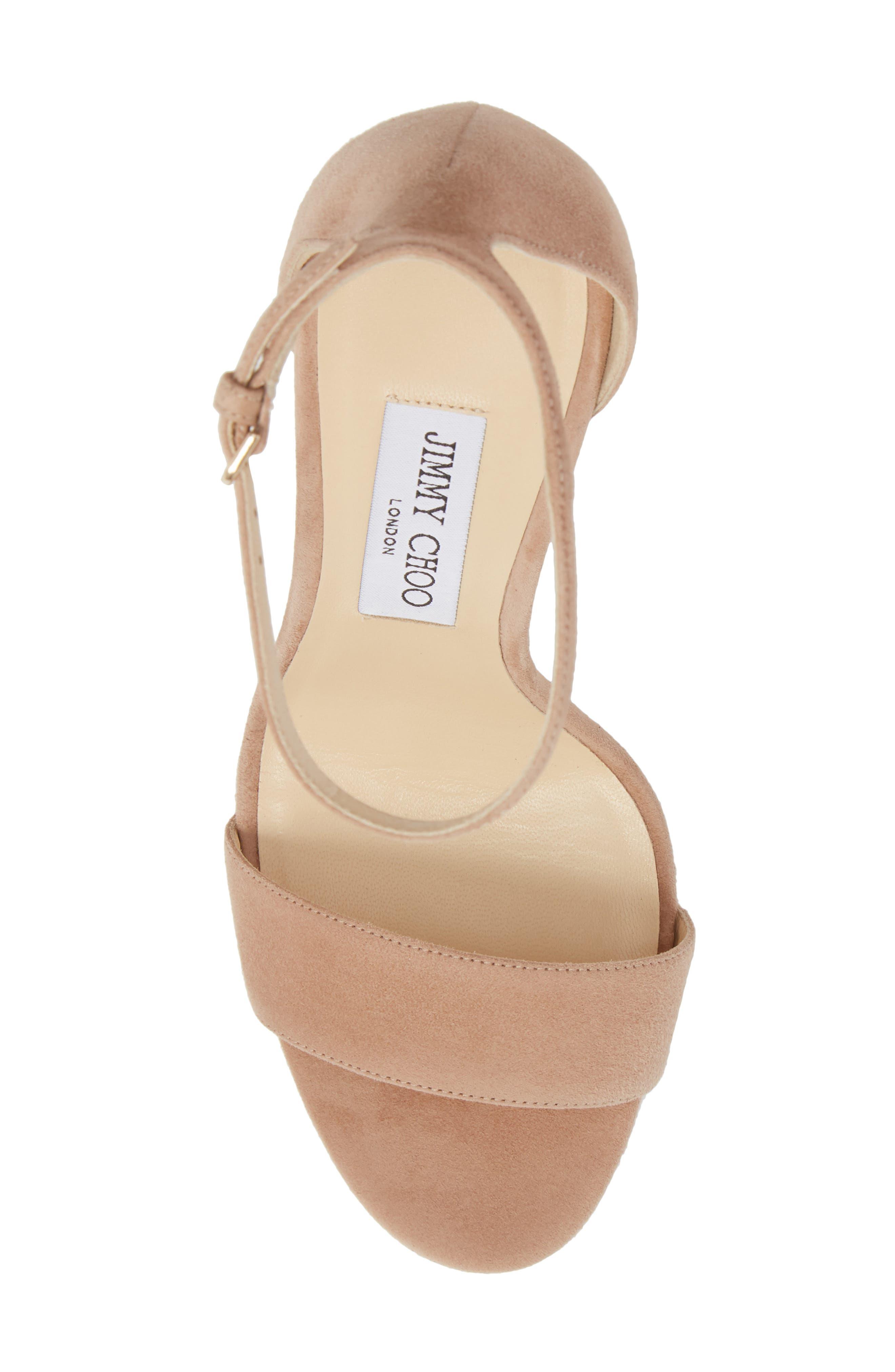 Misty Platform Sandal,                             Alternate thumbnail 5, color,                             Ballet Pink
