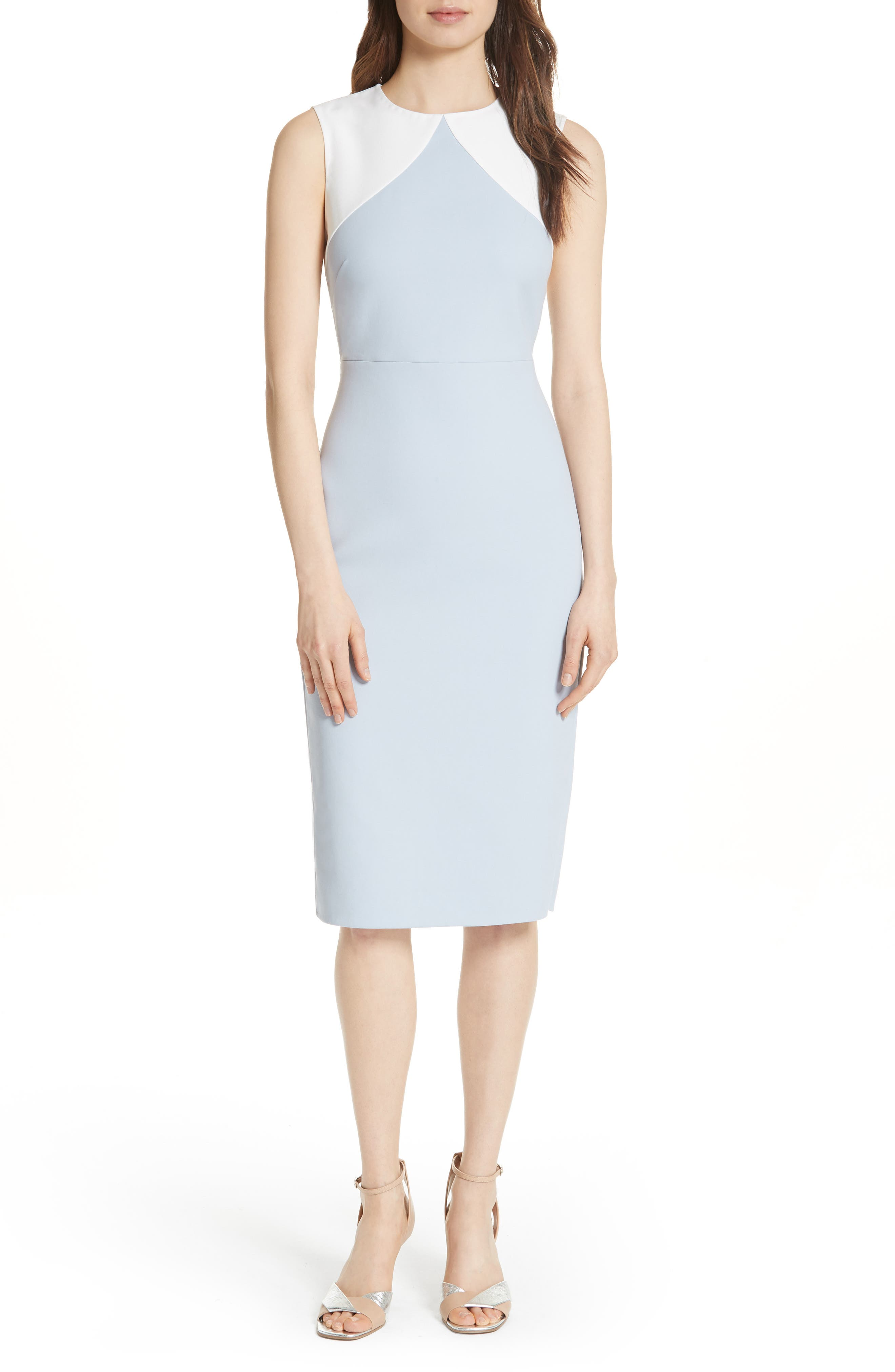 DVF Colorblock Sheath Dress
