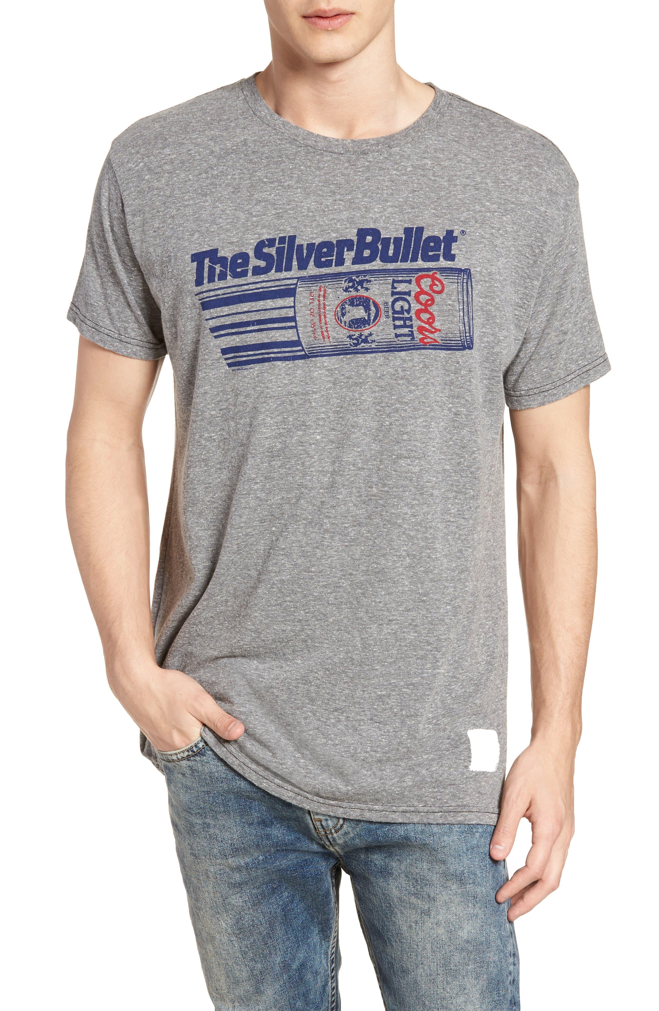Original Retro Brand Silver Bullet Graphic T-Shirt,                         Main,                         color, Streaky Grey
