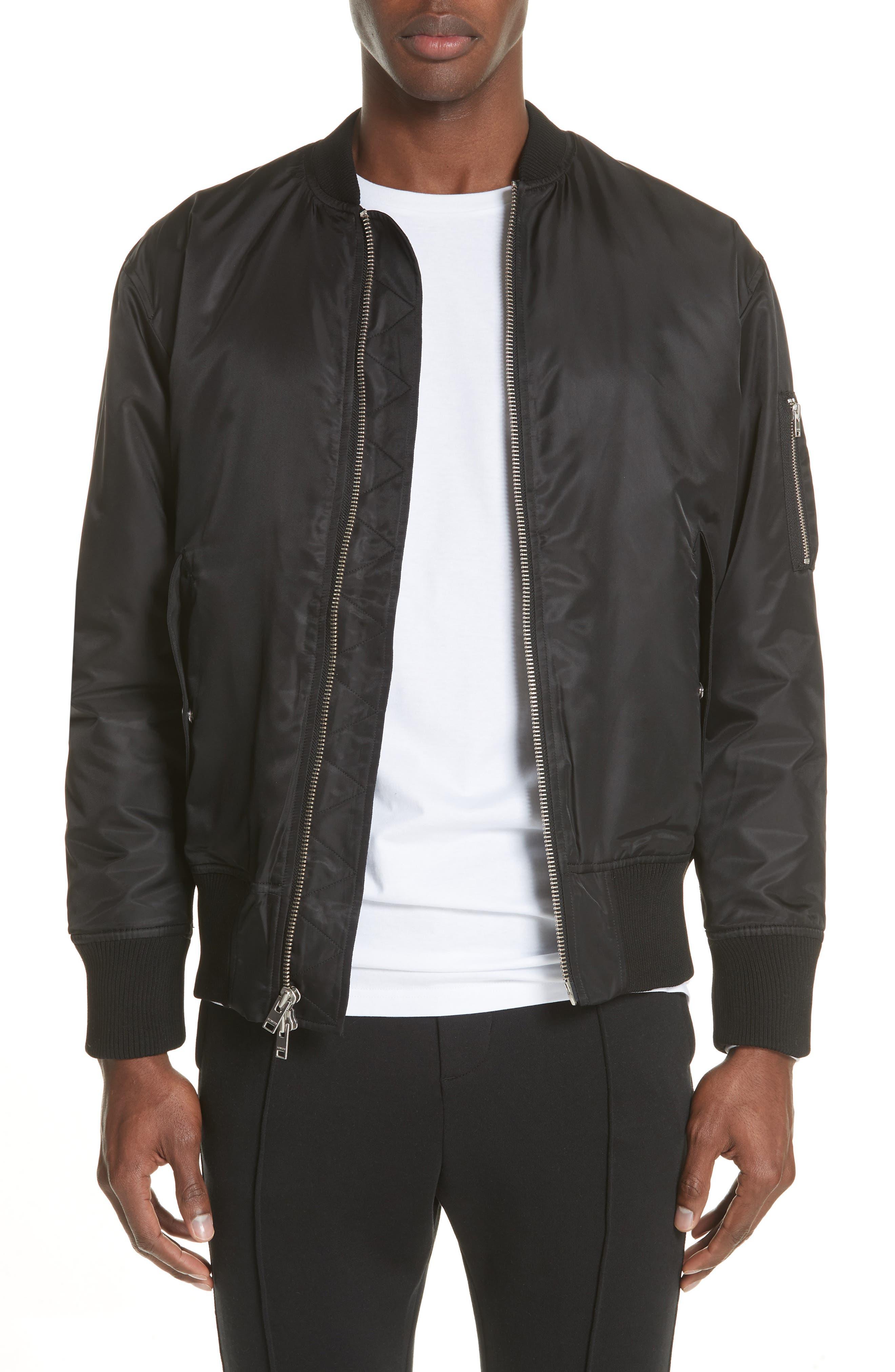 Van Ness Bomber Jacket,                         Main,                         color, Black
