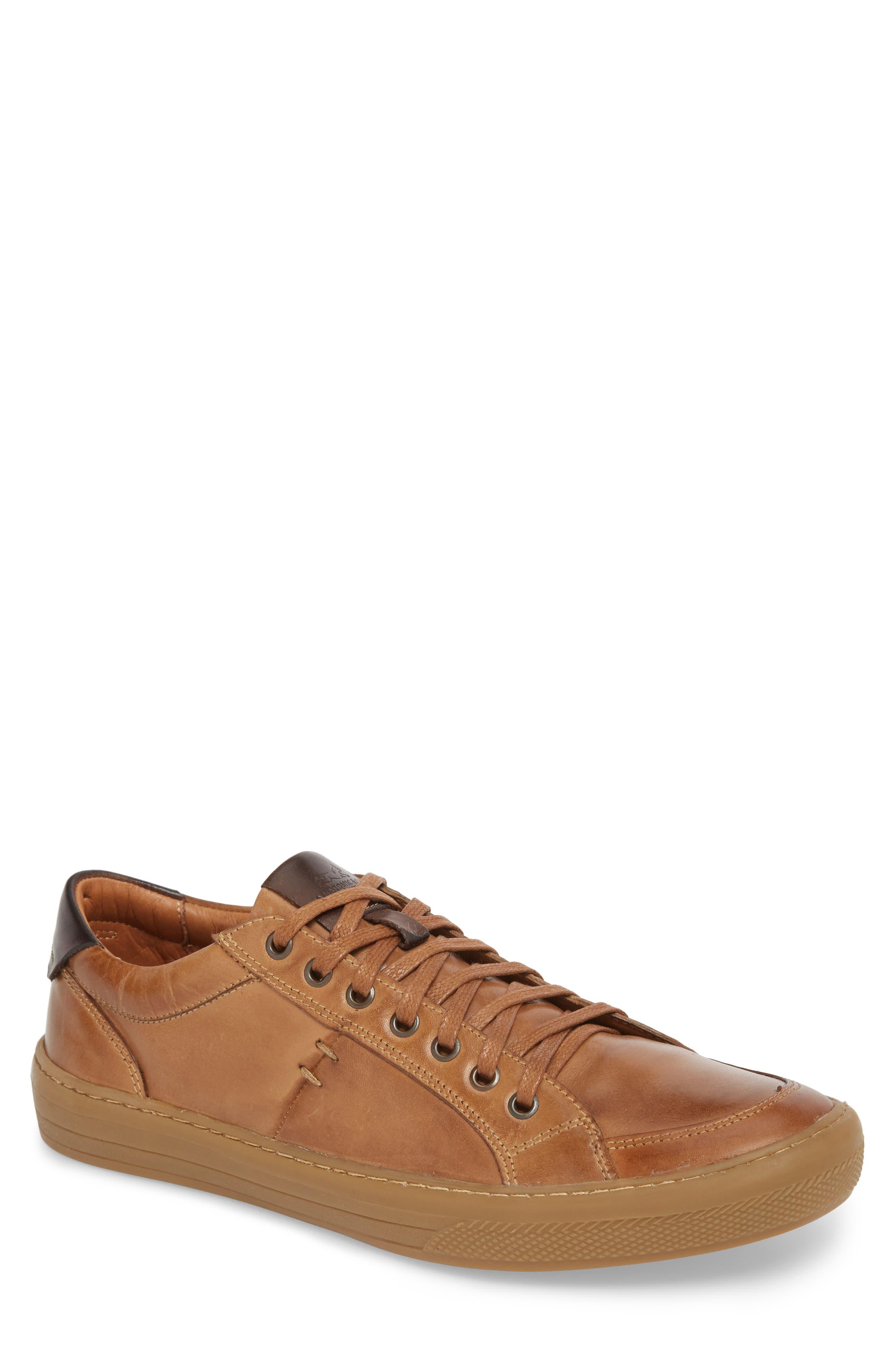 Bilac Low Top Sneaker,                             Main thumbnail 1, color,                             Touch Bronze/ Castanho Leather