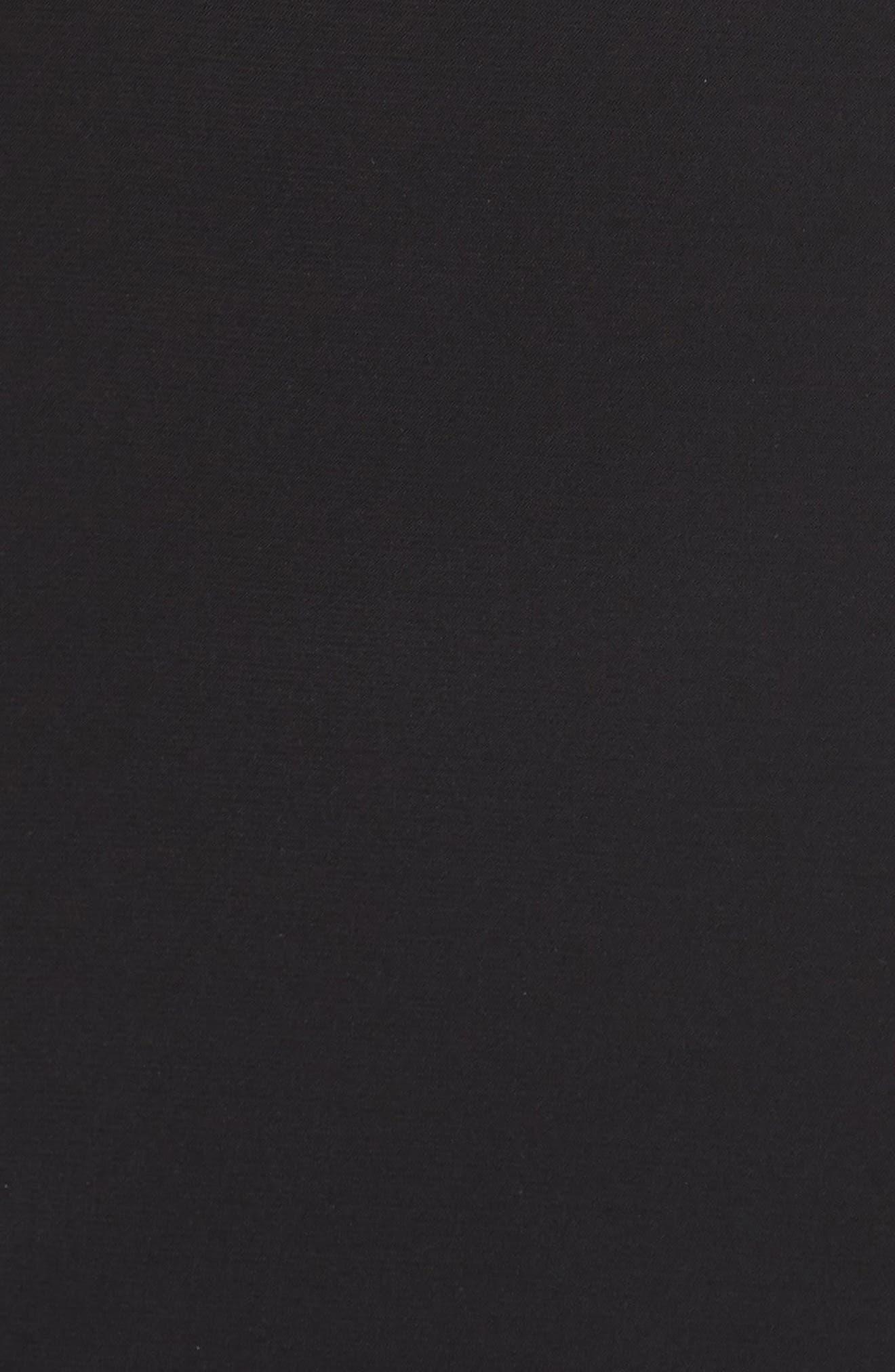 Lace Neck Halter Gown,                             Alternate thumbnail 5, color,                             Black