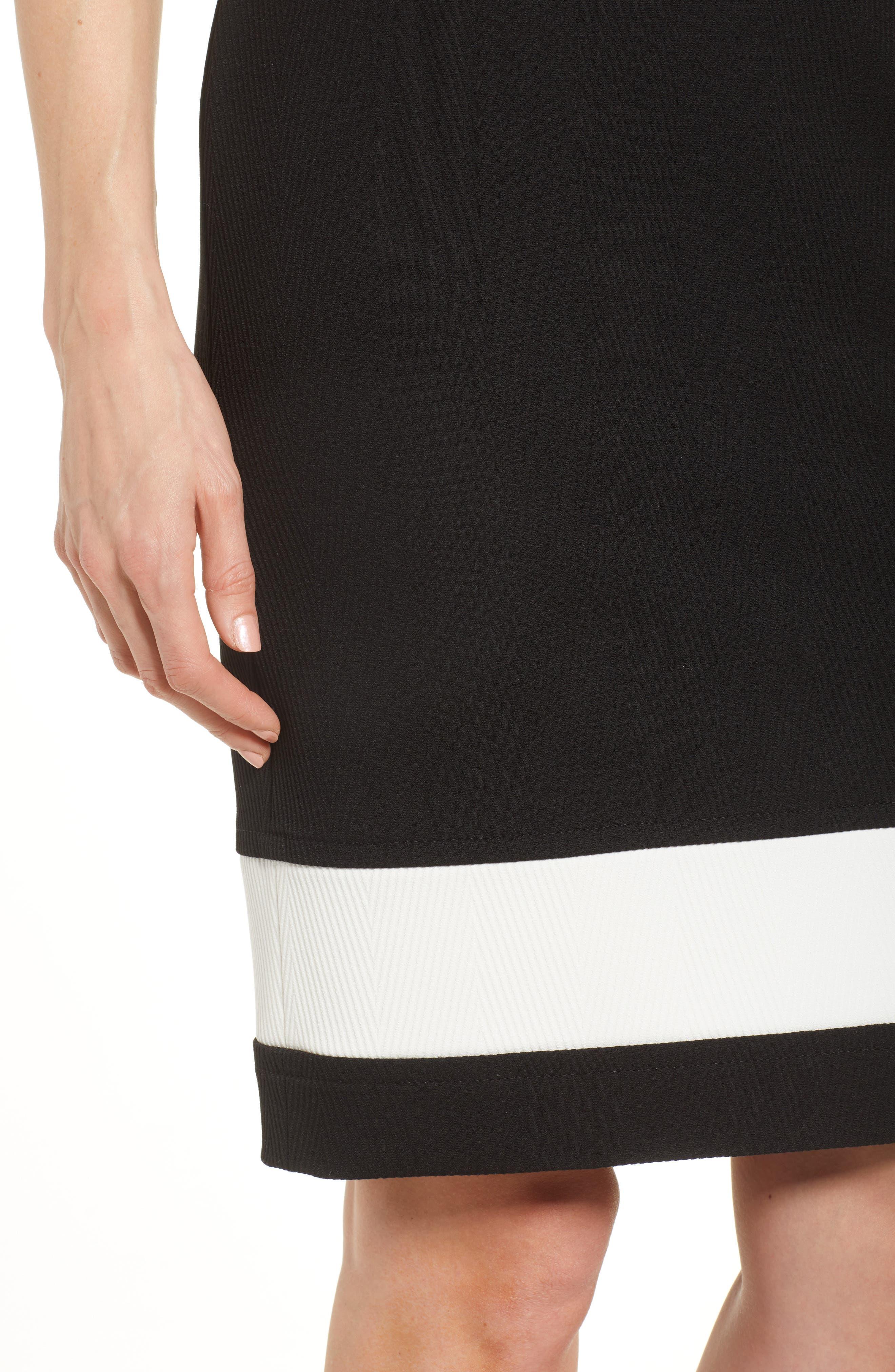 Dasmia Sheath Dress,                             Alternate thumbnail 4, color,                             Black