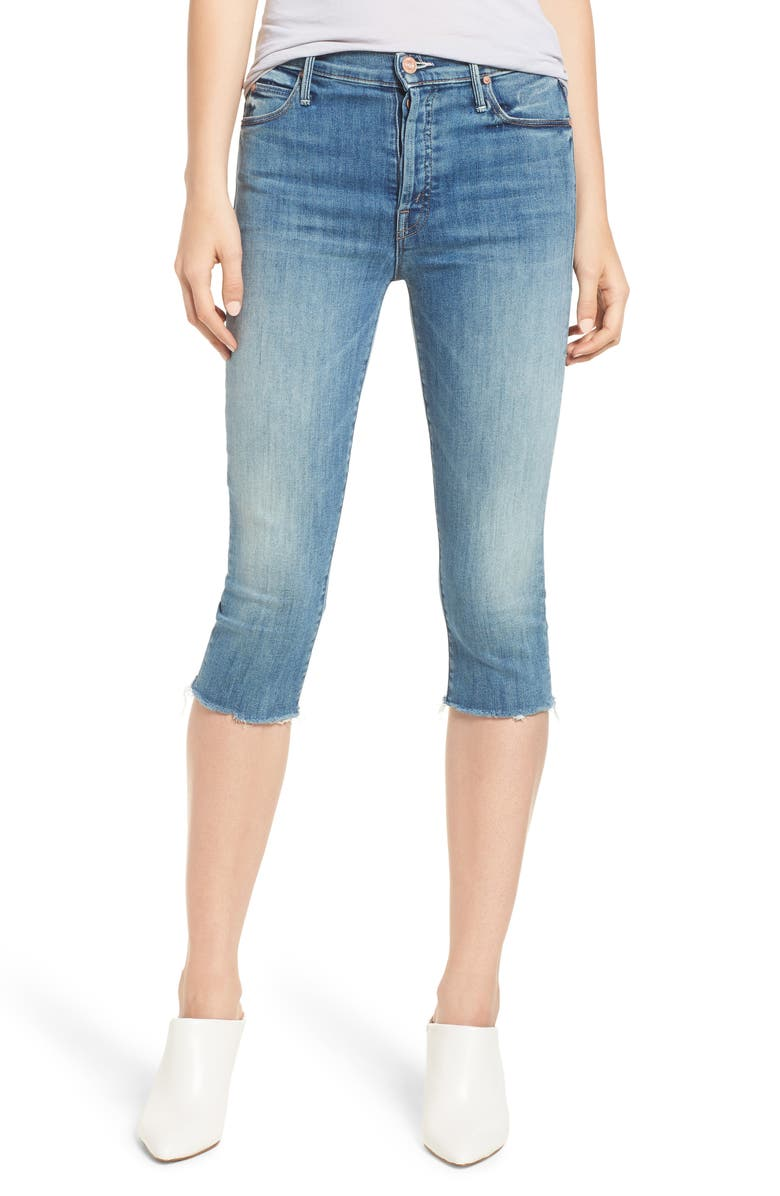 The Stunner Knicker Frayed Capri Jeans
