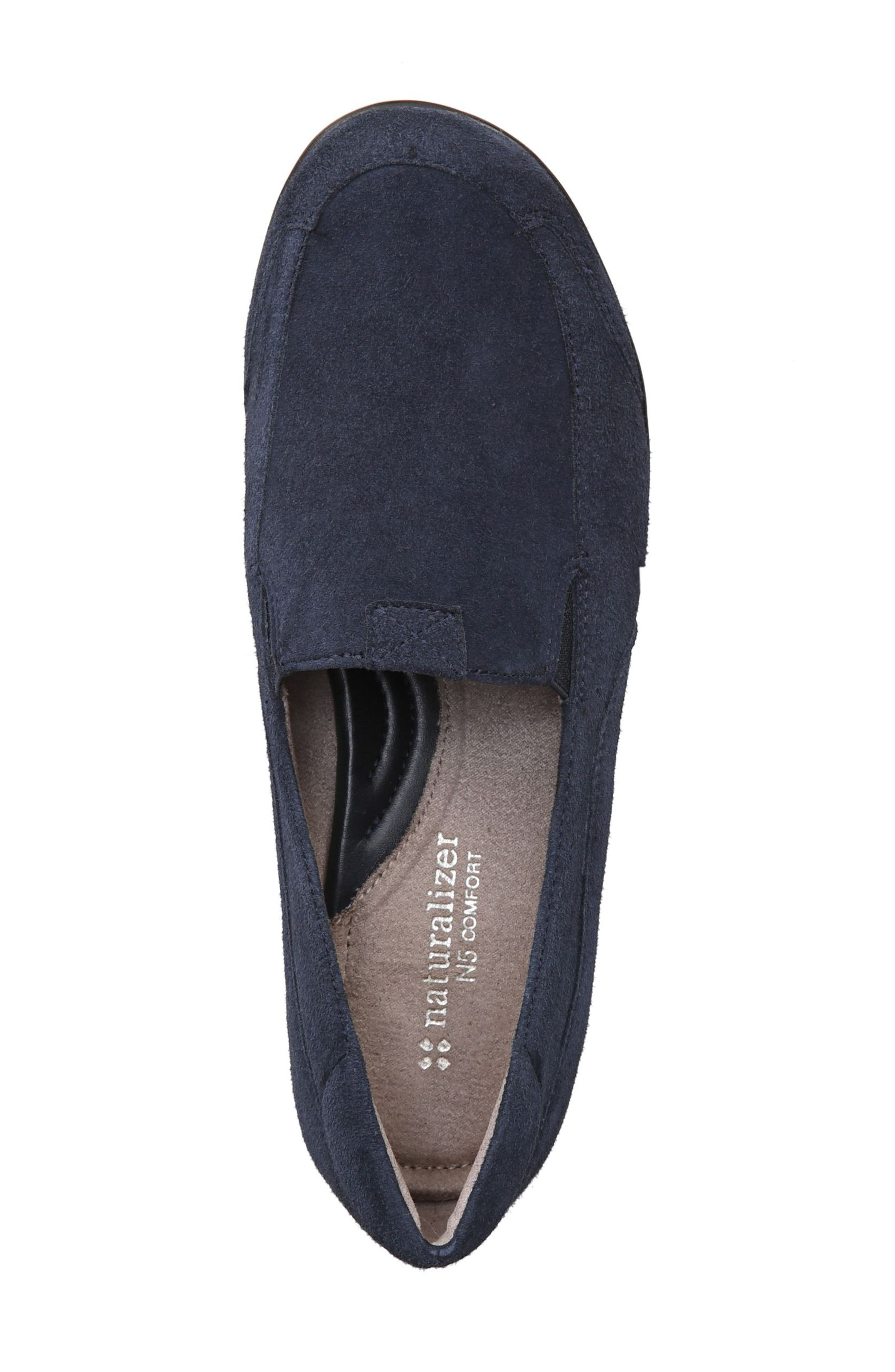 'Channing' Loafer,                             Alternate thumbnail 5, color,                             Navy Suede