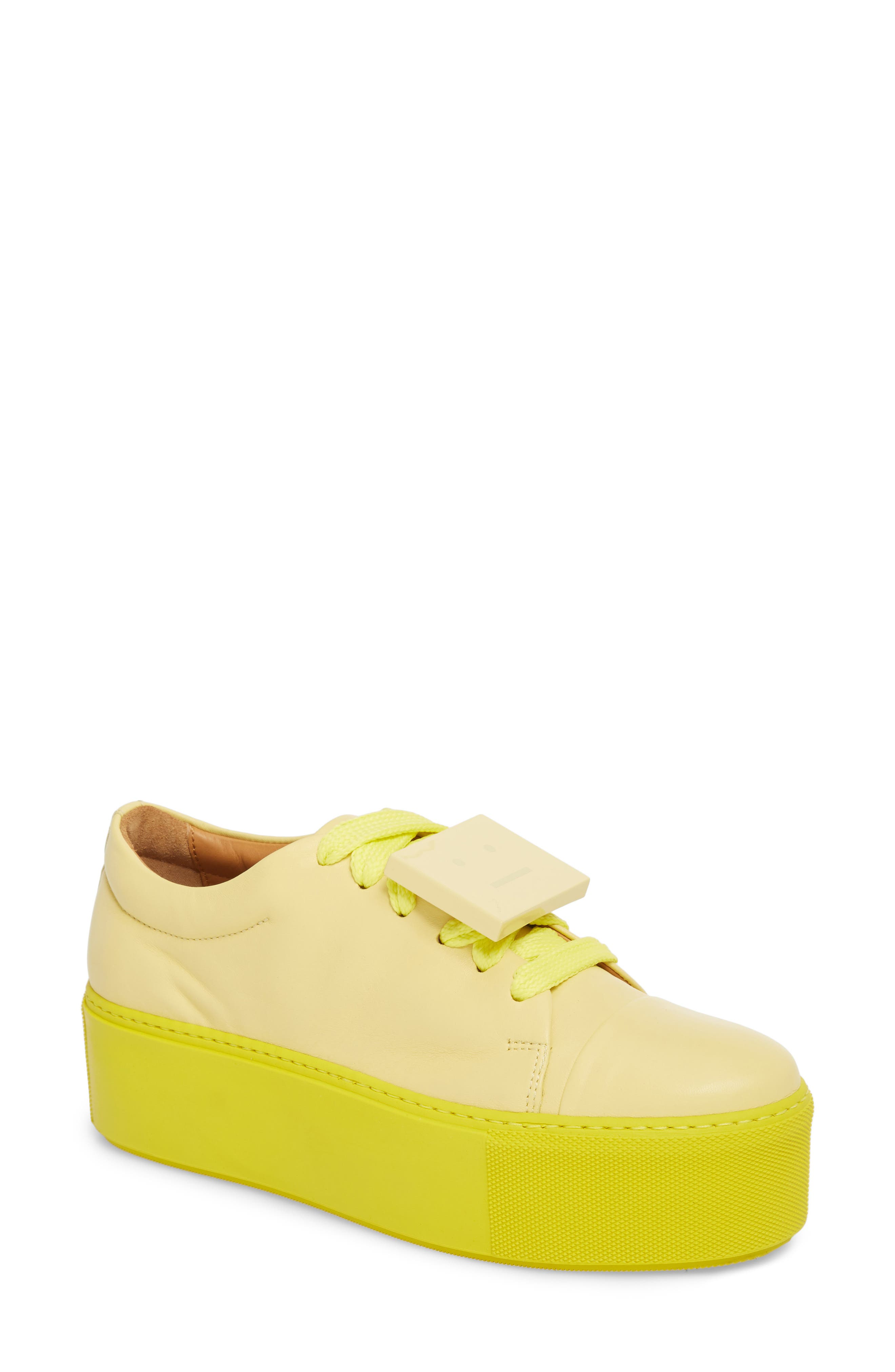 Acne Studios Drihanna Nappa Leather Platform Sneaker (Women)