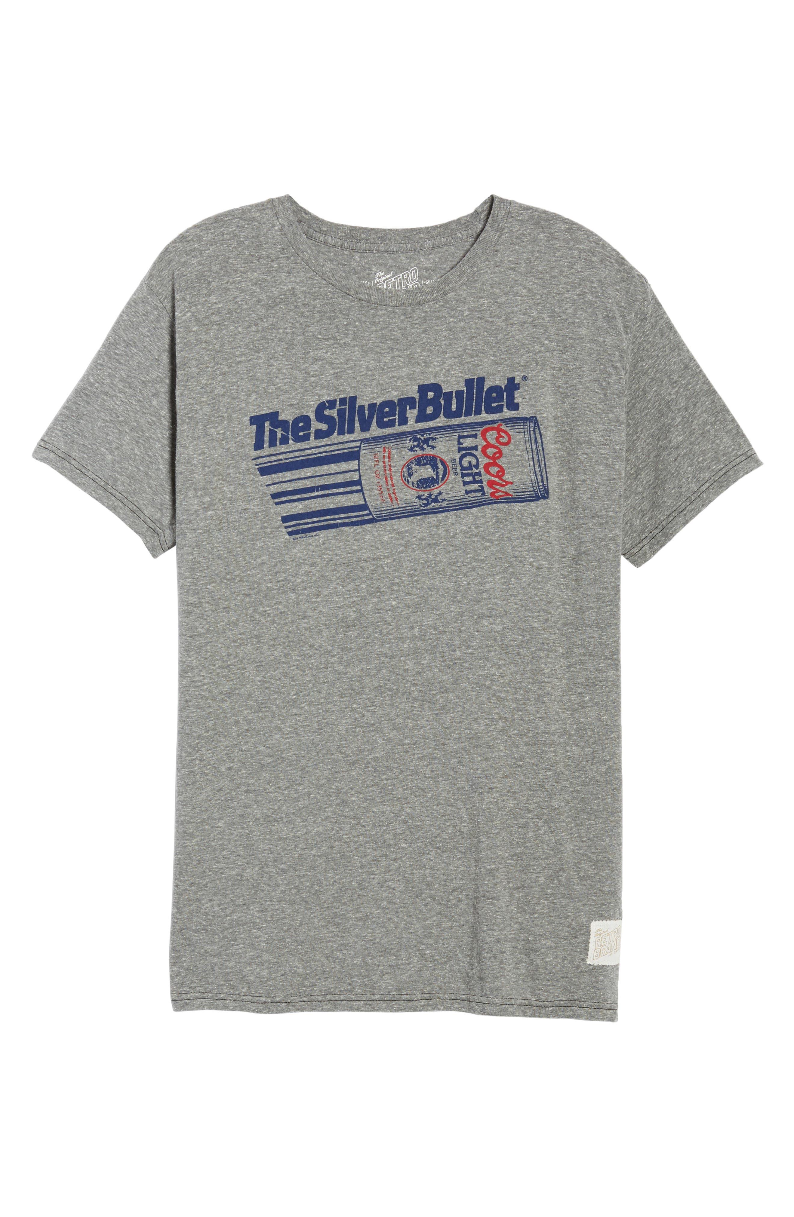 Original Retro Brand Silver Bullet Graphic T-Shirt,                             Alternate thumbnail 6, color,                             Streaky Grey