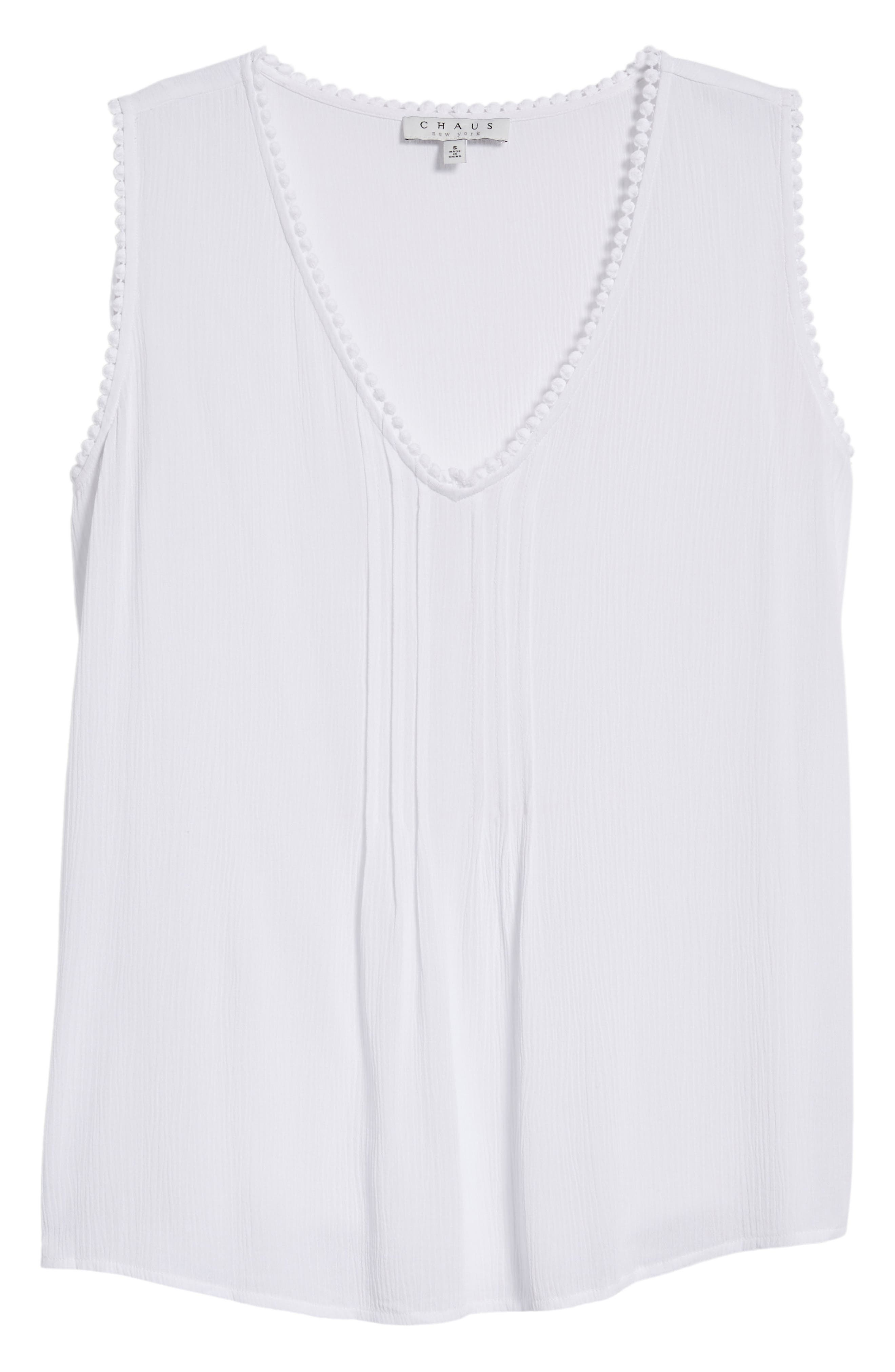 Pintuck Gauze Top,                             Alternate thumbnail 7, color,                             Ultra White
