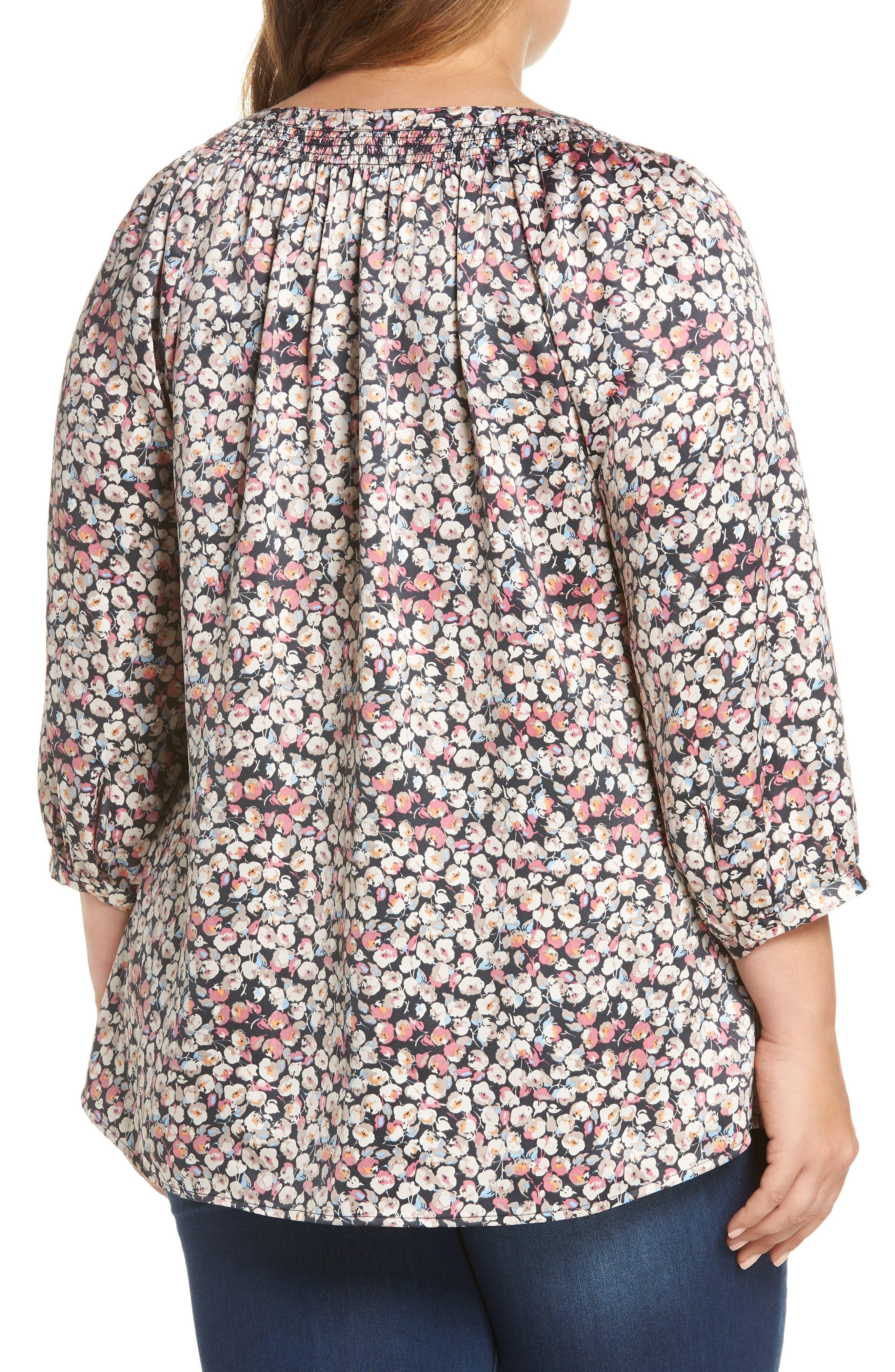 Floral Blouson Sleeve Blouse,                             Alternate thumbnail 2, color,                             B244n Mauve