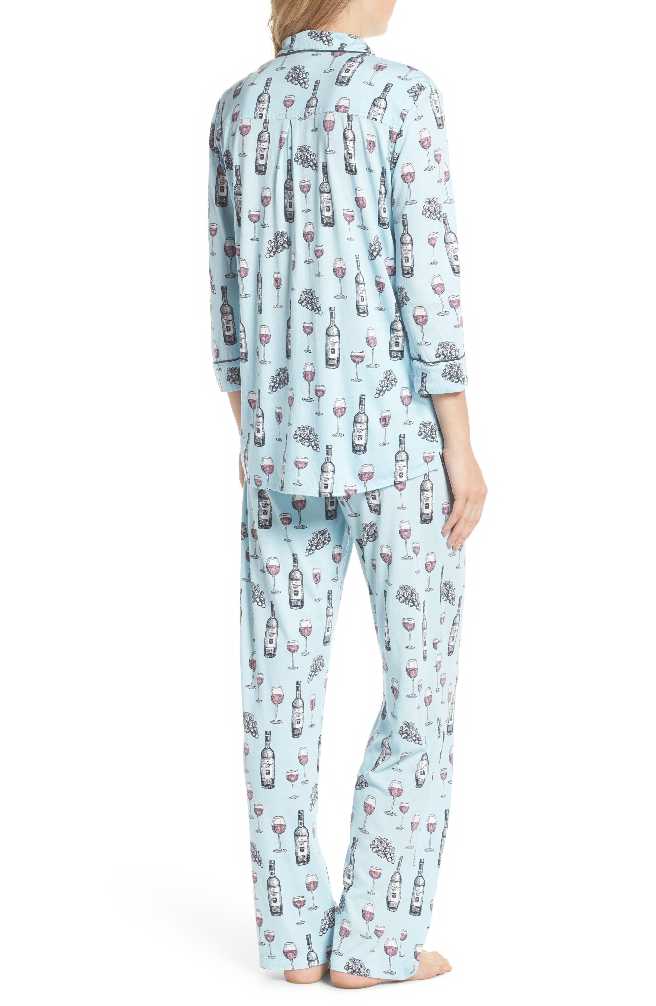 Alternate Image 2  - PJ Salvage Print Pajamas & Eye Mask