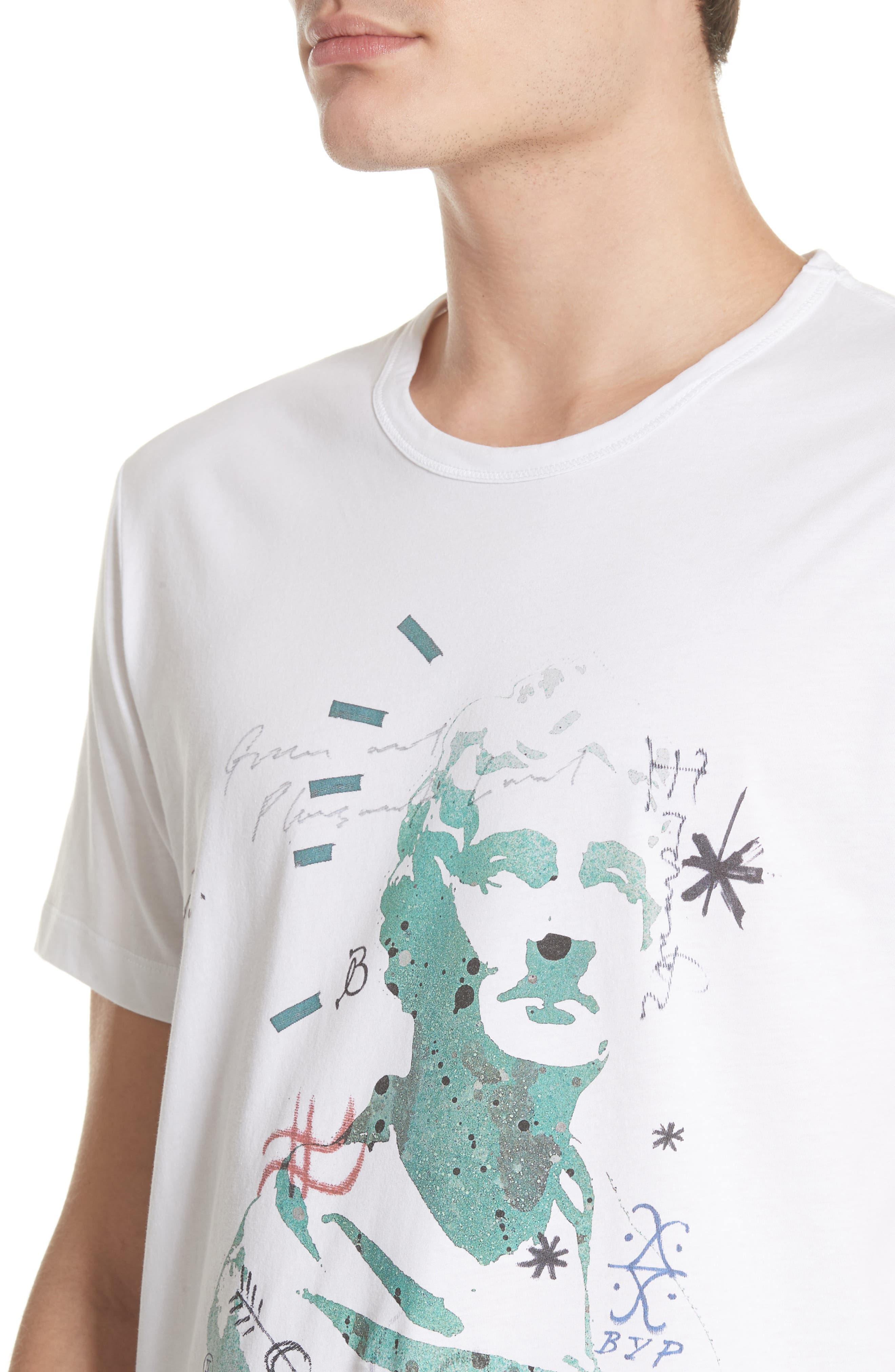 Camberley Abith Graphic T-Shirt,                             Alternate thumbnail 4, color,                             White