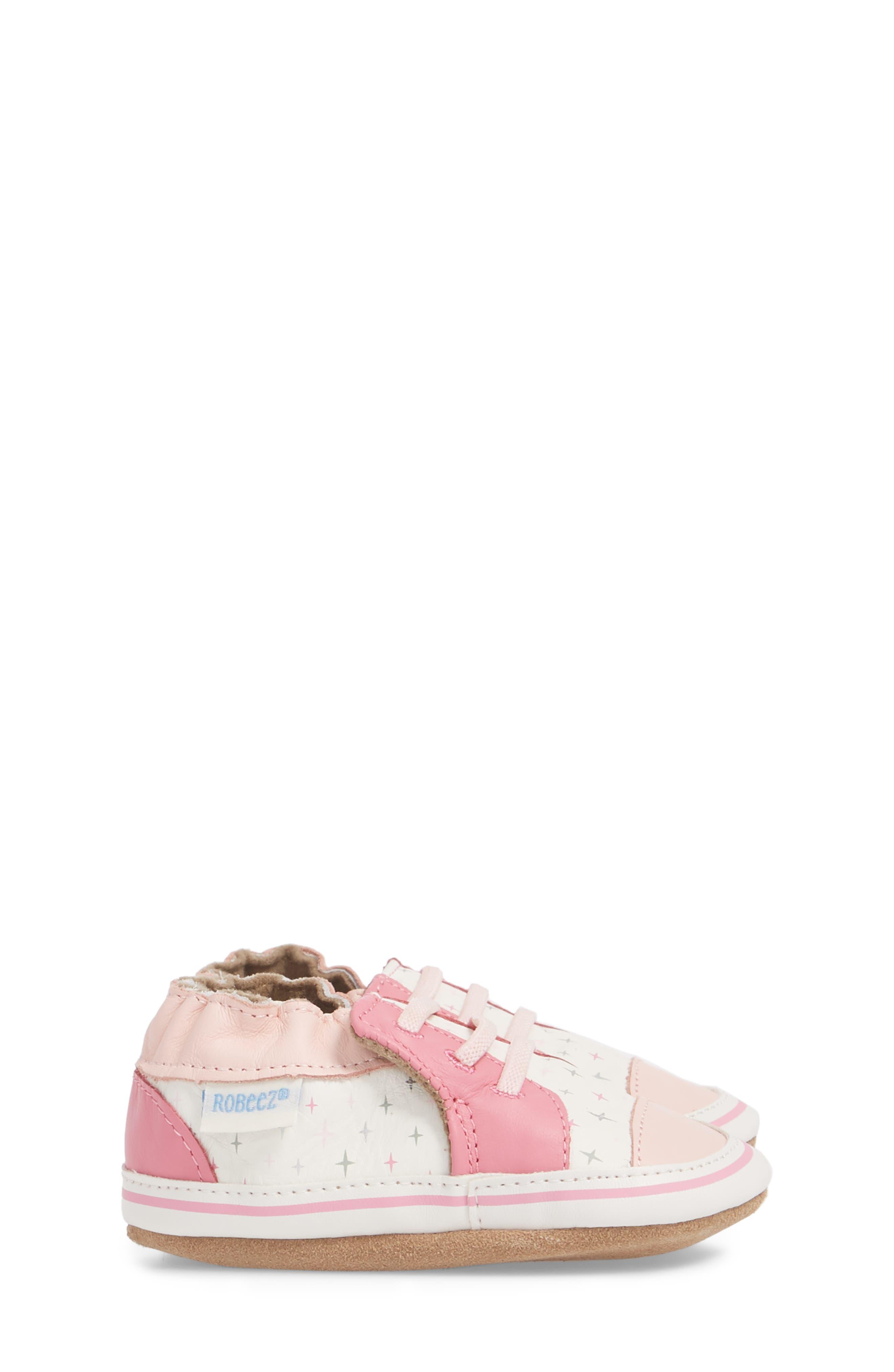 Alternate Image 4  - Robeez® Trendy Trainer Sneaker Crib Shoe (Baby)