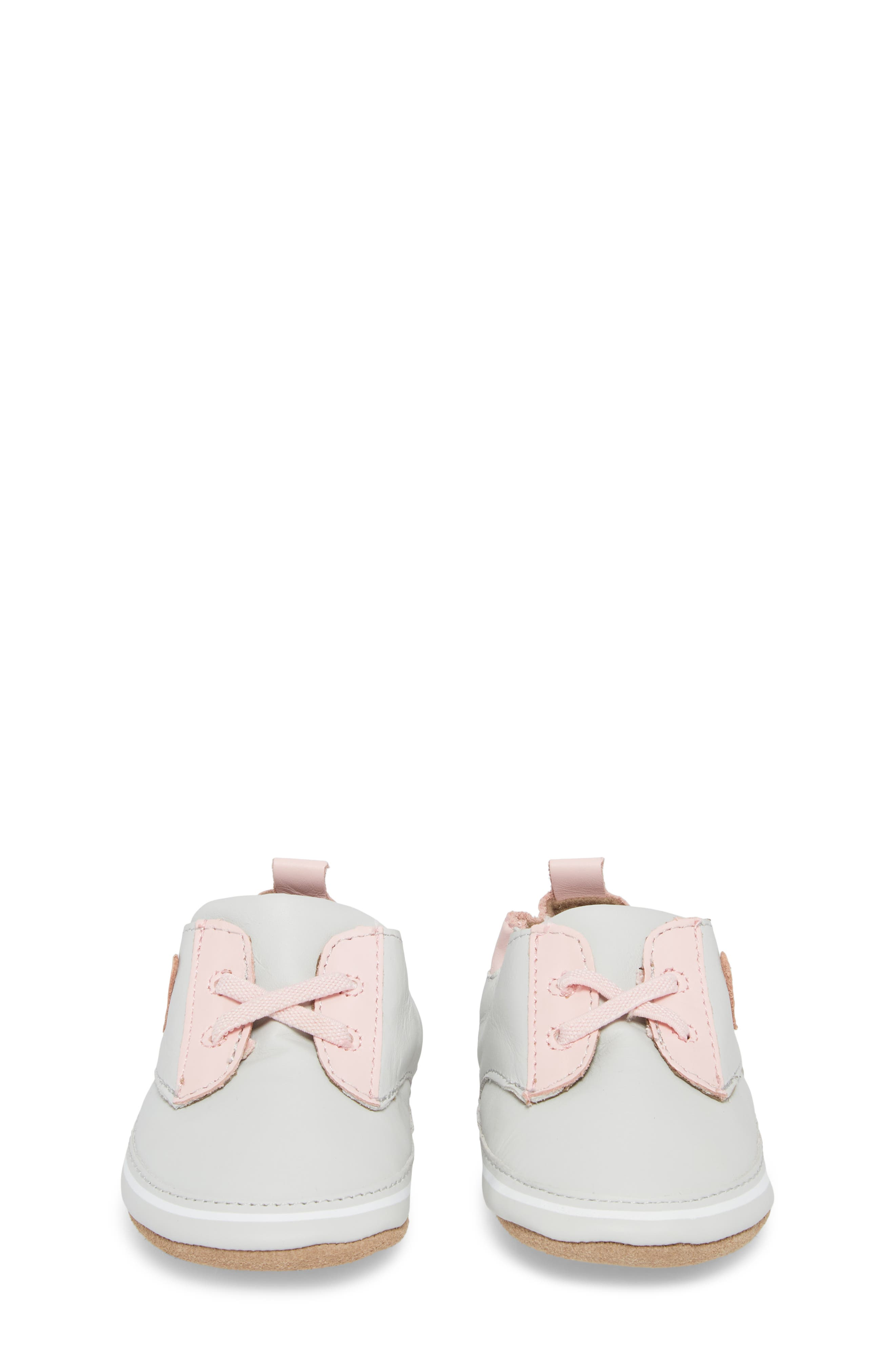 Heartbreaker Slip-On Crib Sneaker,                             Alternate thumbnail 5, color,                             Light Grey