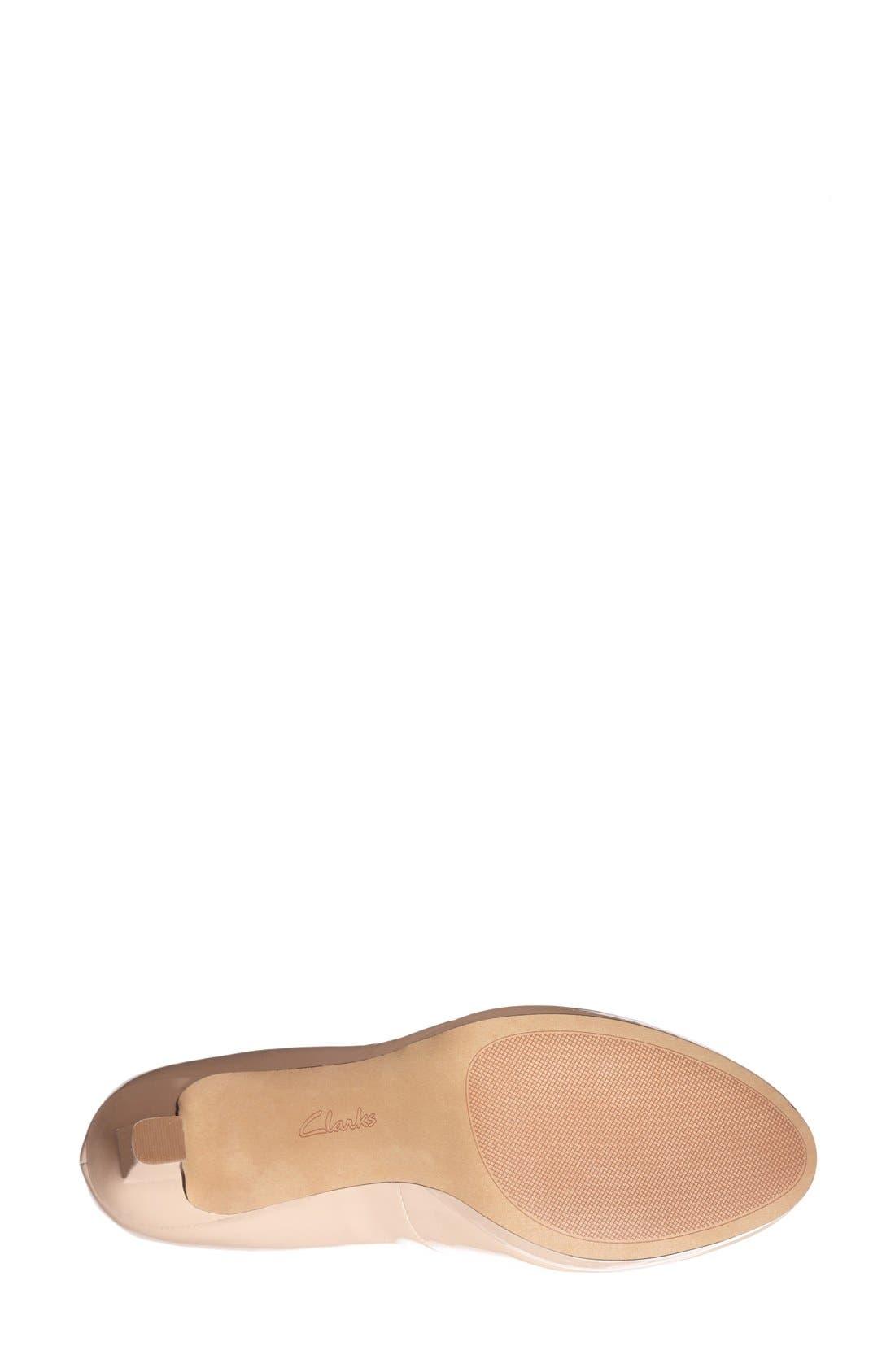 'Delsie Bliss' Platform Pump,                             Alternate thumbnail 4, color,                             Nude Patent Leather