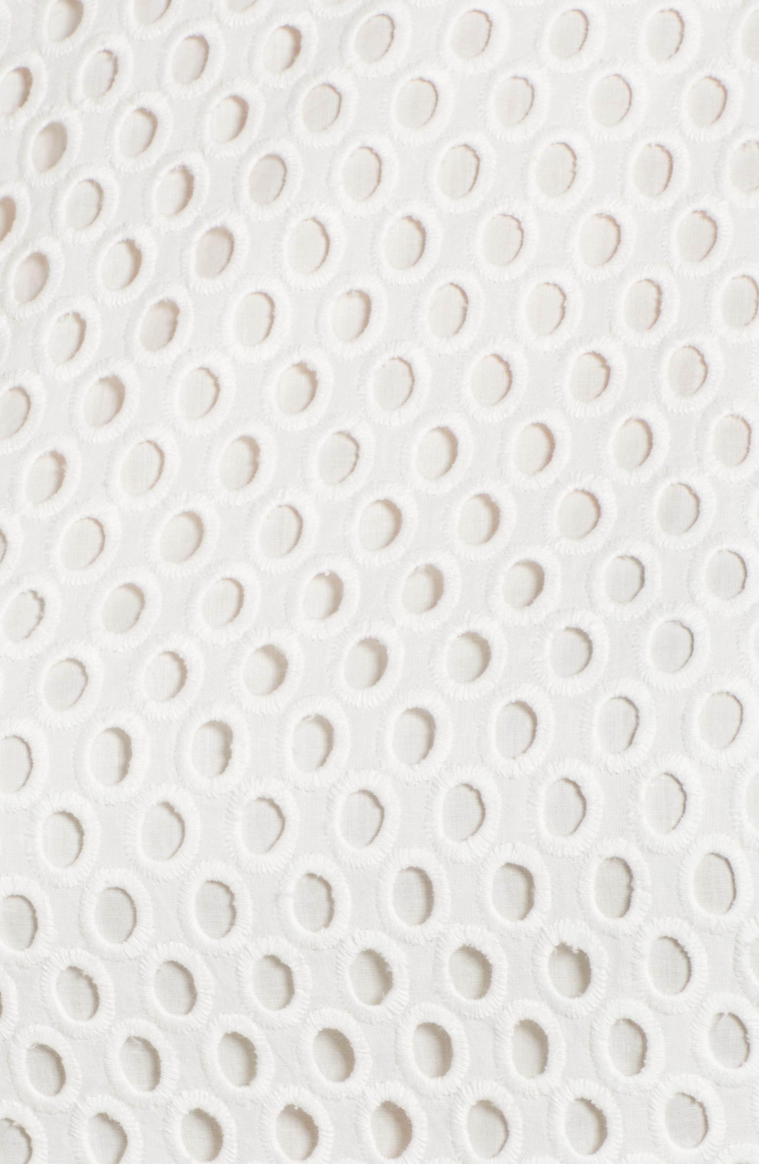 Dafalia Cotton Eyelet Dress,                             Alternate thumbnail 6, color,                             Vanilla Light