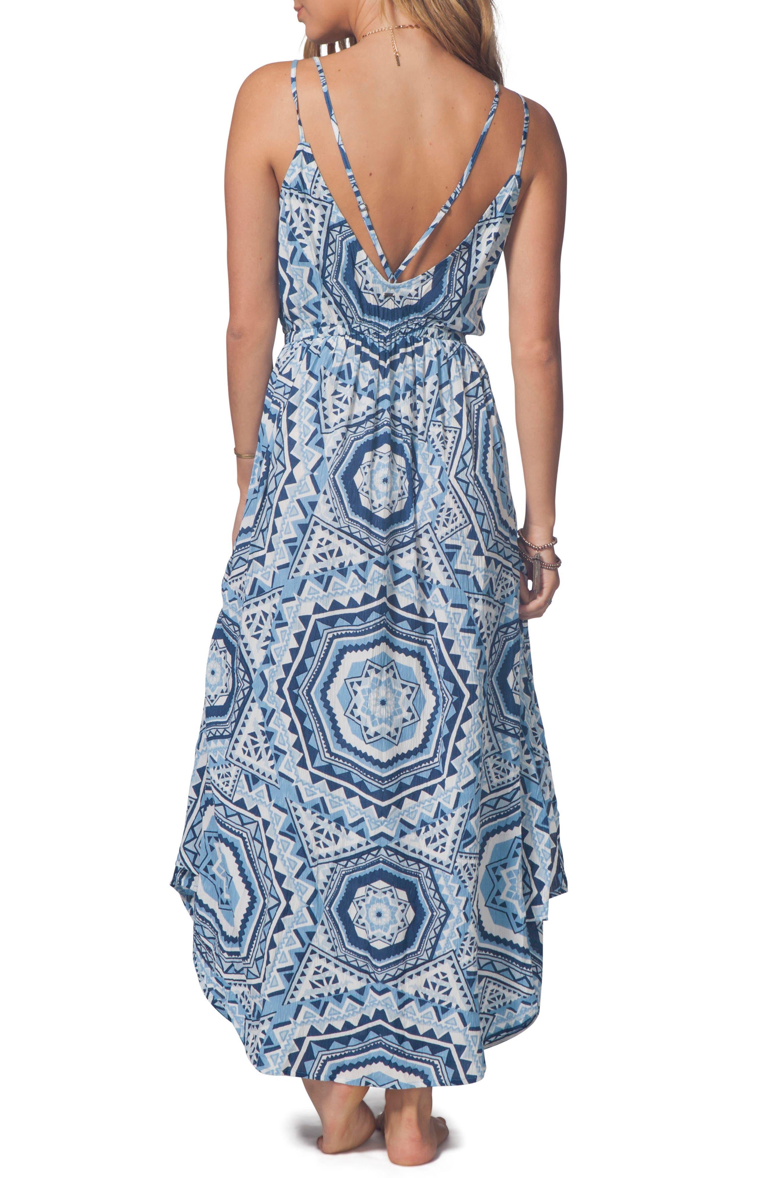 La Playa Maxi Dress,                             Alternate thumbnail 2, color,                             Mid Blue