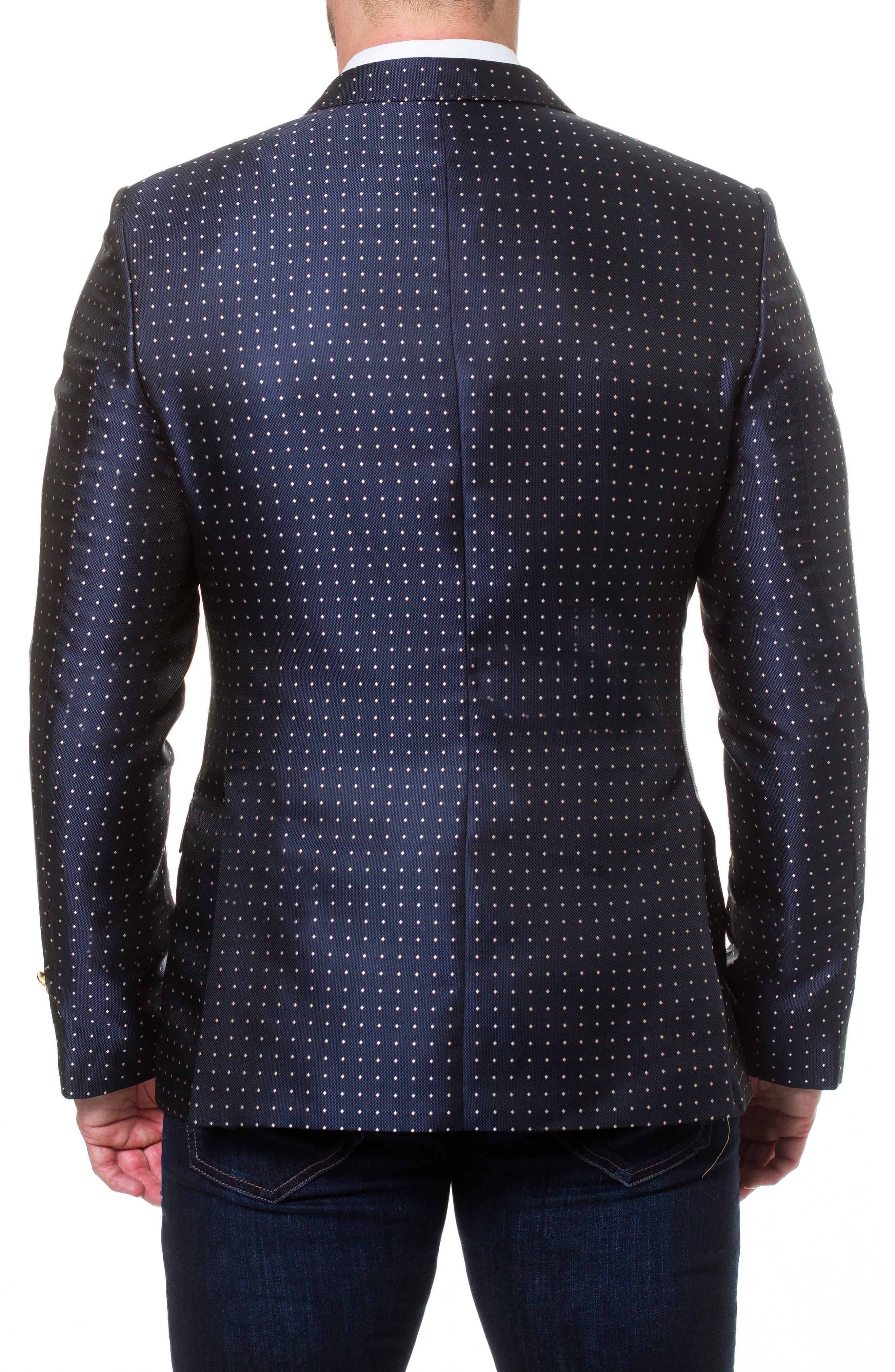 Descartes Dot Linen & Cotton Blend Sport Coat,                             Alternate thumbnail 2, color,                             Blue