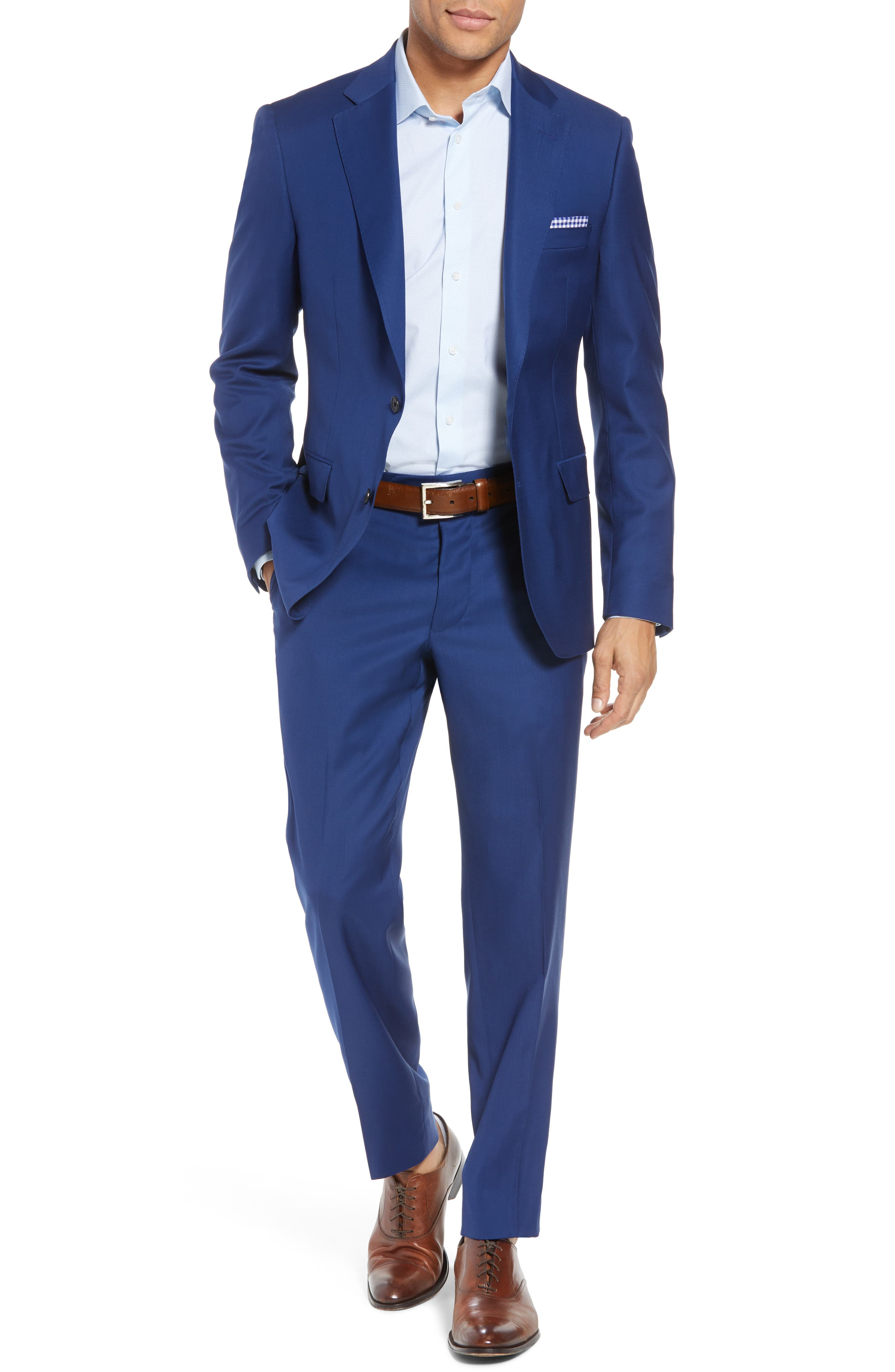 Main Image - Samuelsohn Bennet Classic Fit Solid Wool Suit