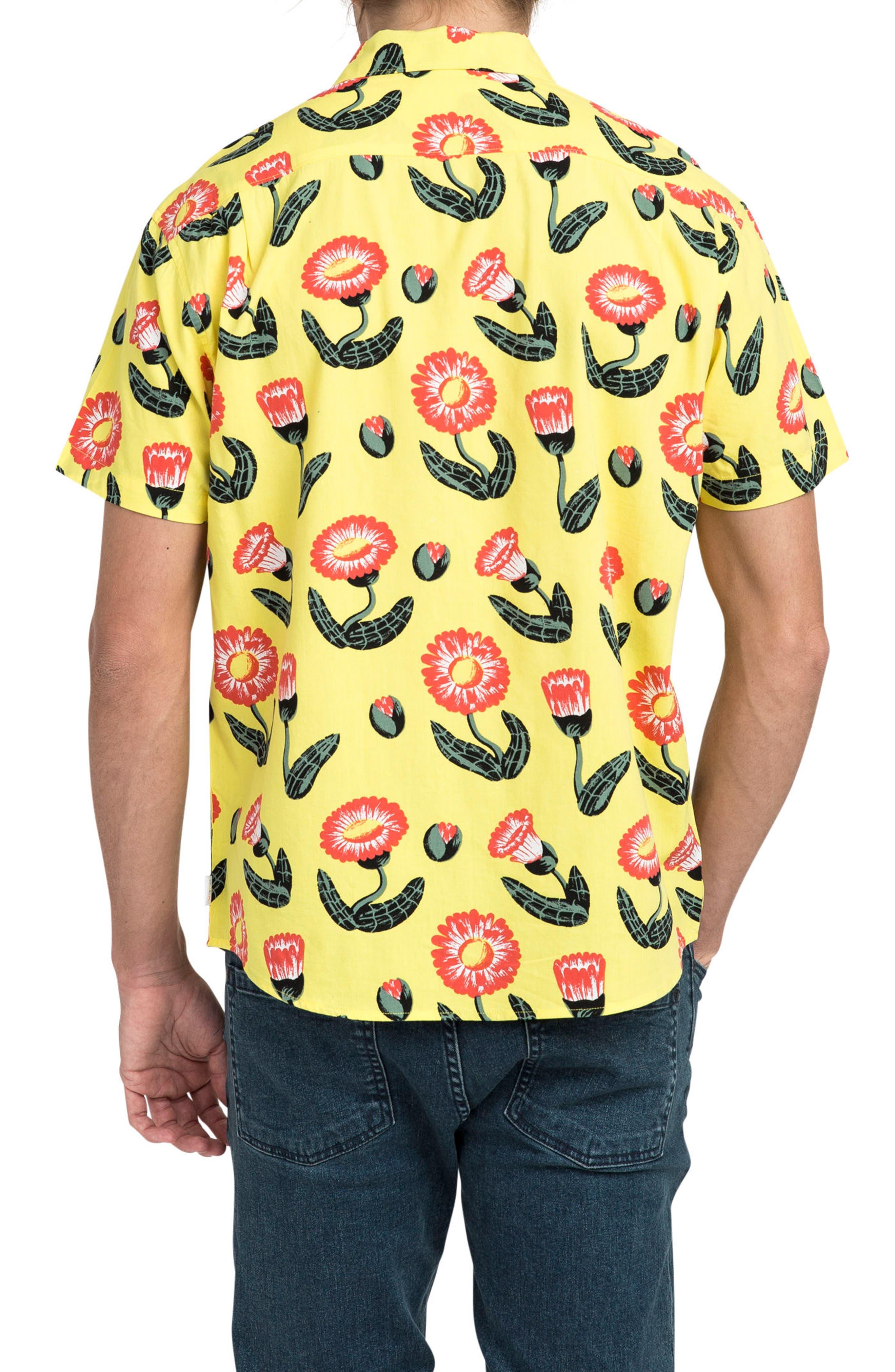 Pelletier Tropic Short Sleeve Shirt,                             Alternate thumbnail 2, color,                             Yellow