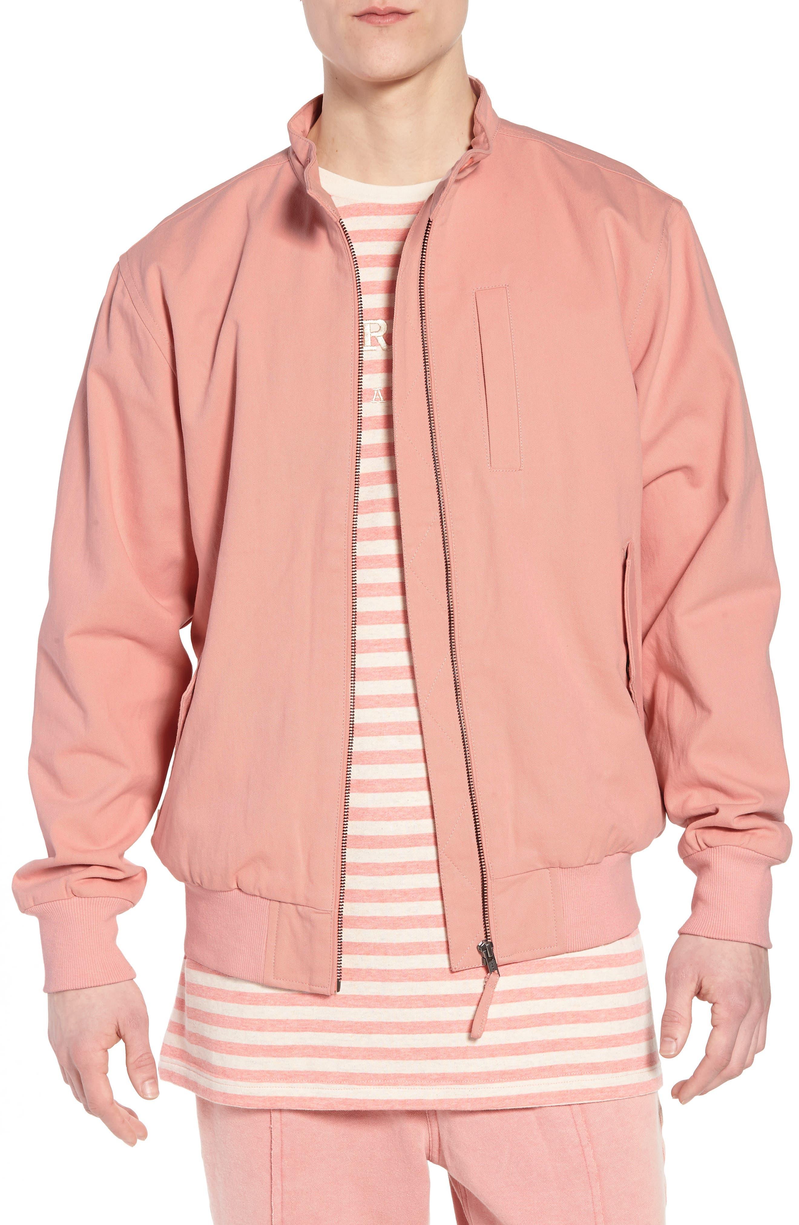 Dotson Twill Bomber Jacket,                             Main thumbnail 1, color,                             Pink