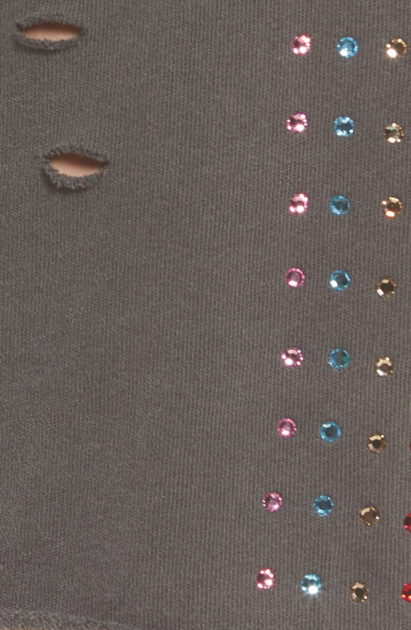 Rainbow Glitz Shorts,                             Alternate thumbnail 5, color,                             Pigment Black