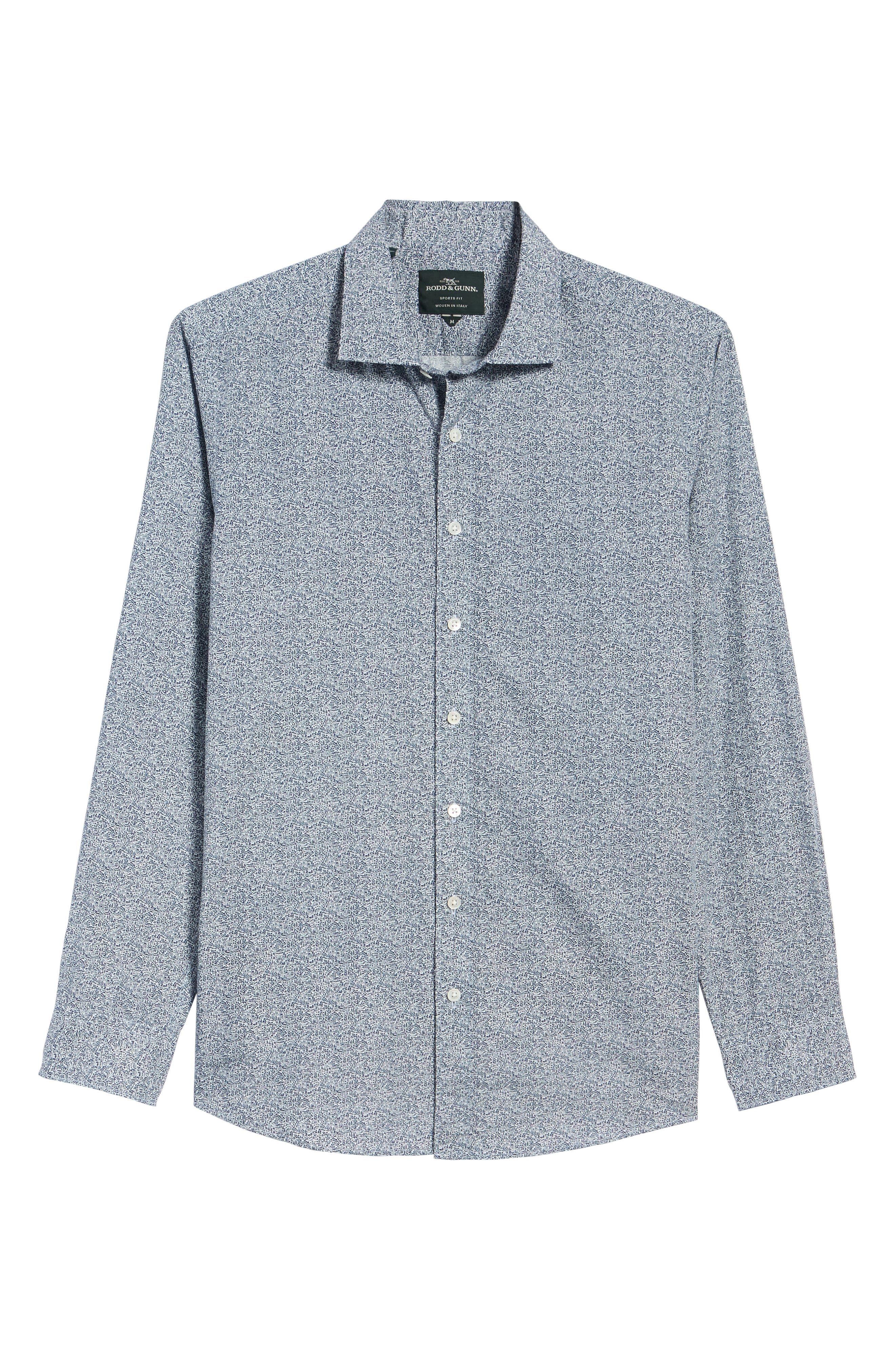 Massey West Slim Fit Sport Shirt,                             Alternate thumbnail 6, color,                             Ink
