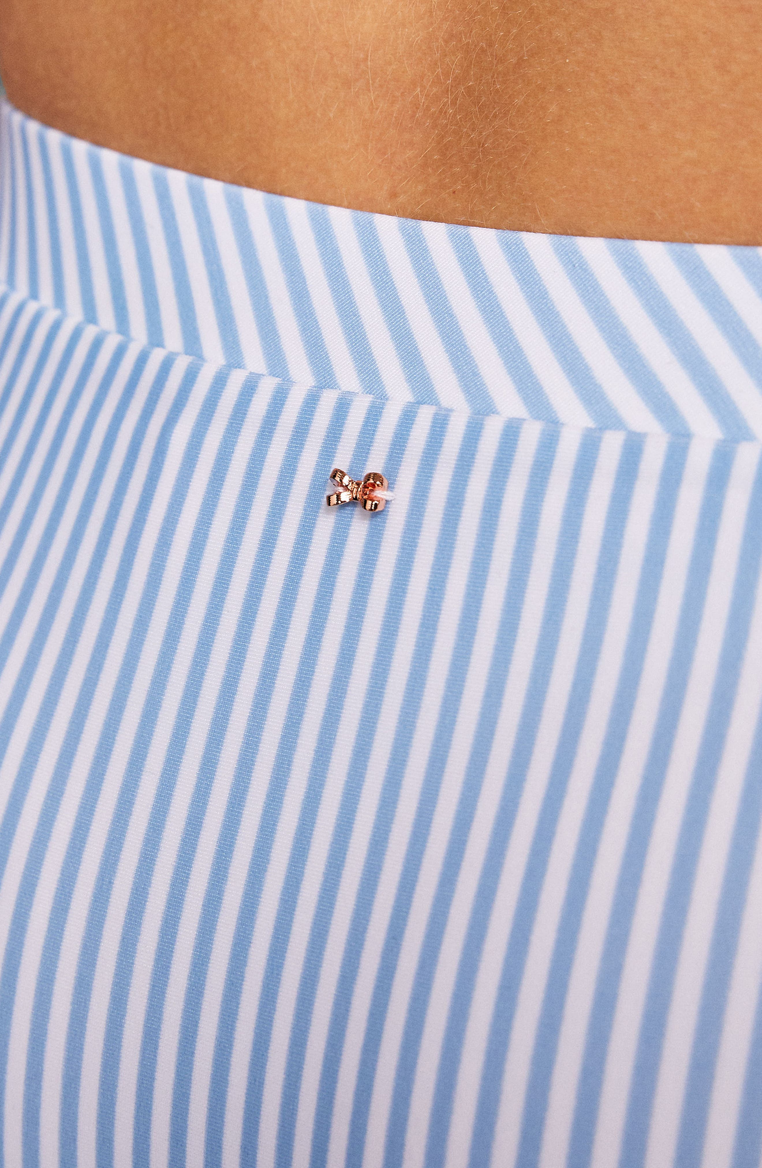 Stripe Bikini Bottoms,                             Alternate thumbnail 3, color,                             Pale Blue