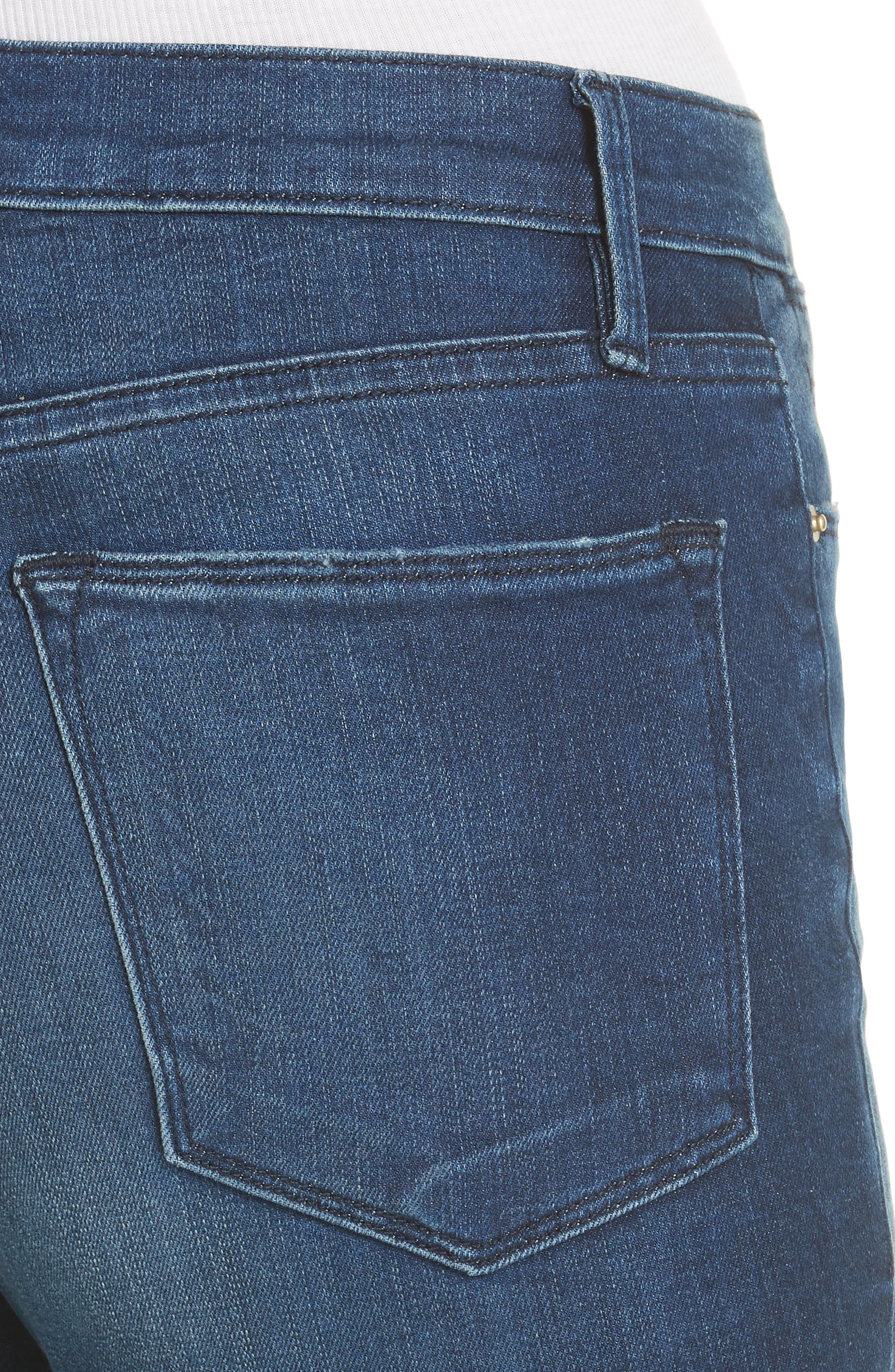 Le High Ankle Skinny Jeans,                             Alternate thumbnail 4, color,                             Silver Spring