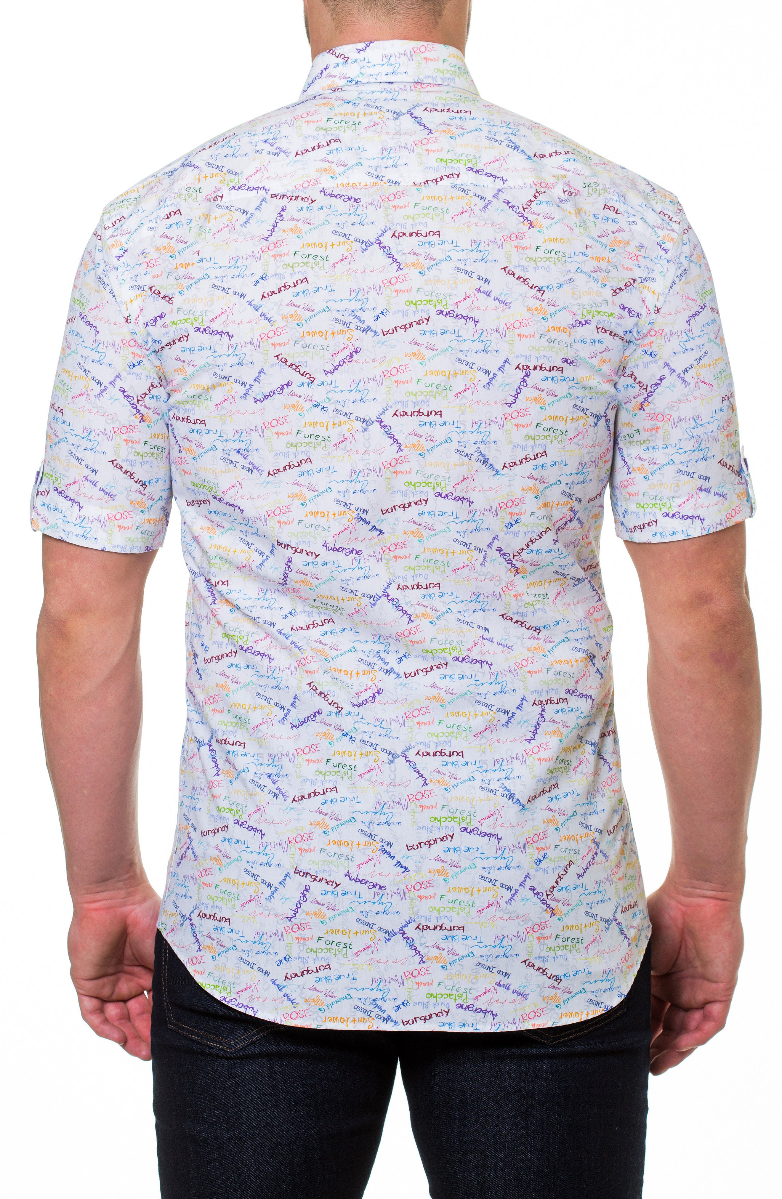 Fresh Colors Print Sport Shirt,                             Alternate thumbnail 2, color,                             White