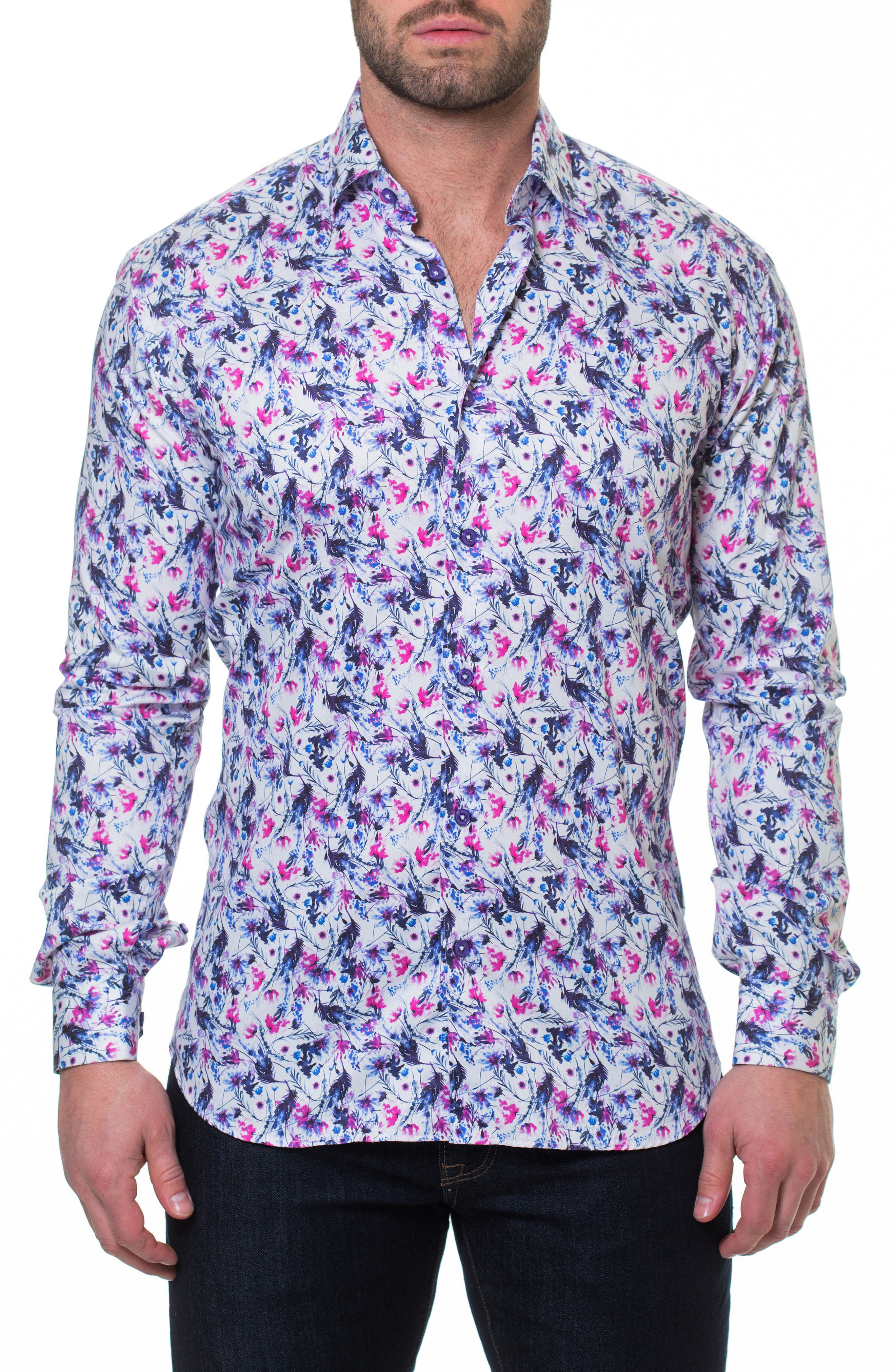 Luxor Home Slim Fit Sport Shirt,                             Main thumbnail 1, color,                             Pink