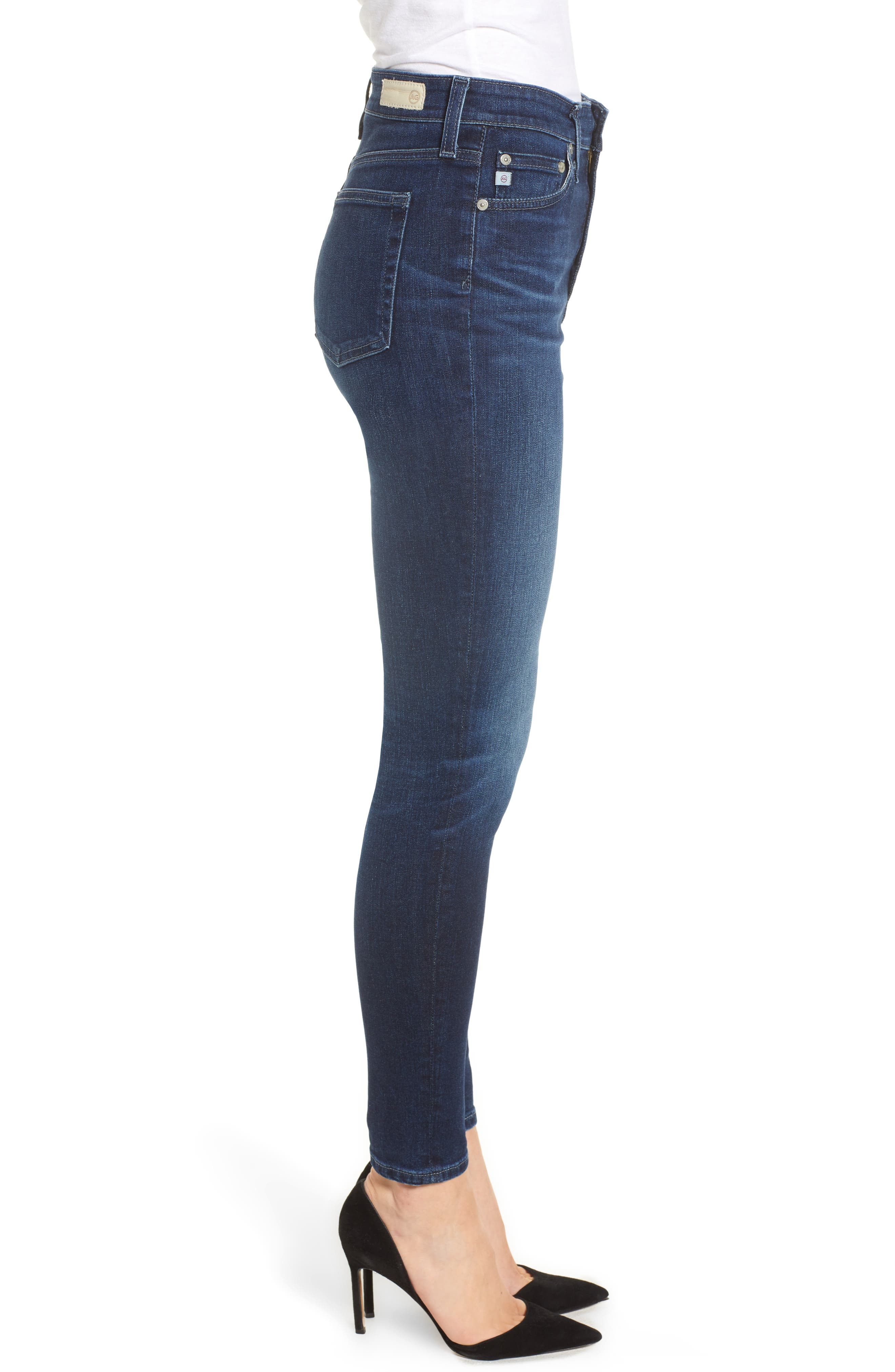 Mila Ankle Skinny Jeans,                             Alternate thumbnail 3, color,                             4 Years Deep Willows