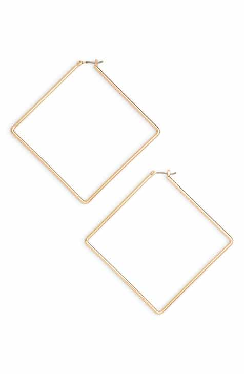 195dc19b0 Uncommon James by Kristin Cavallari Girl Boss Square Hoop Earrings