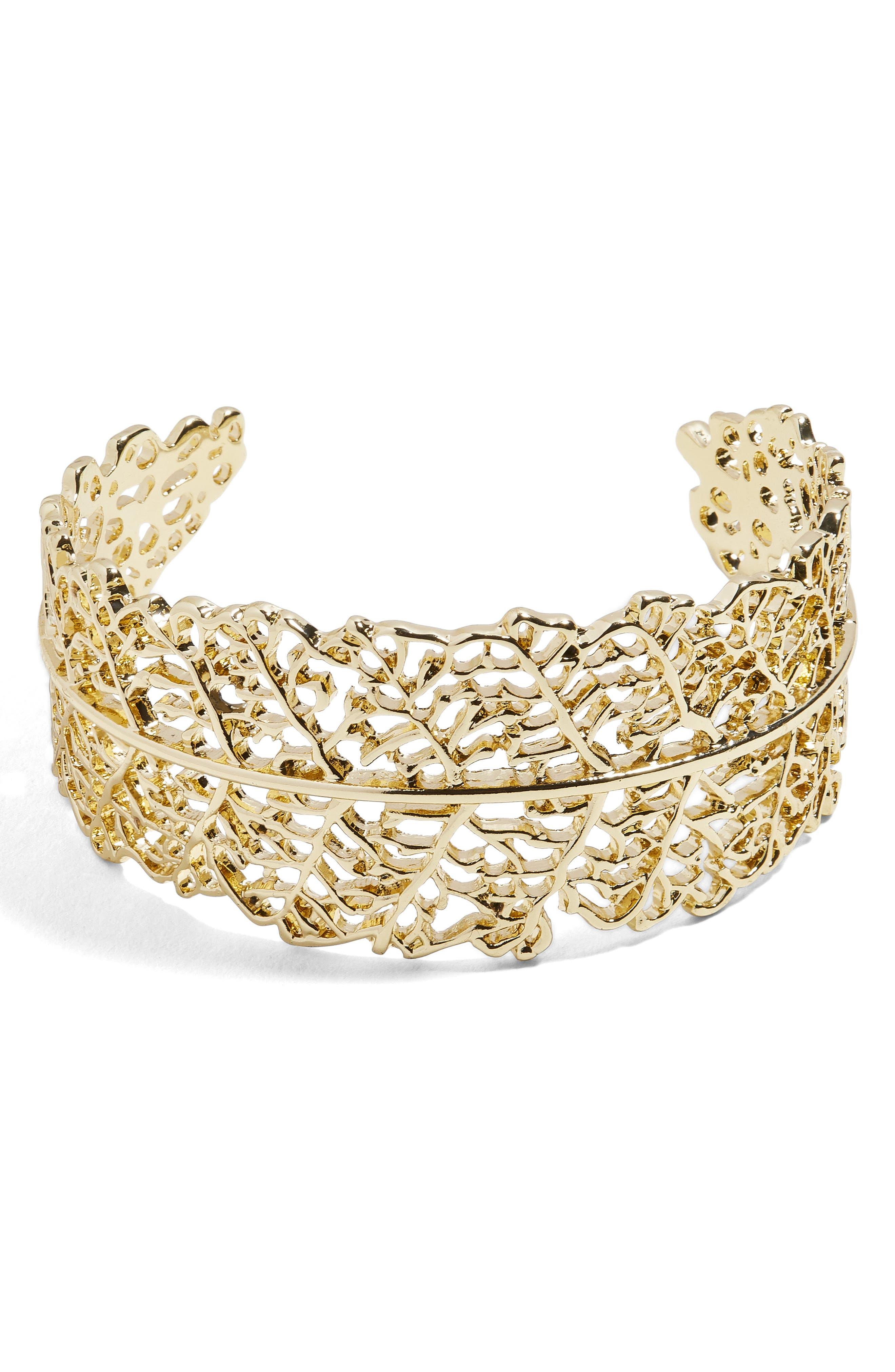 Hamlet Cuff Bracelet,                             Main thumbnail 1, color,                             Gold
