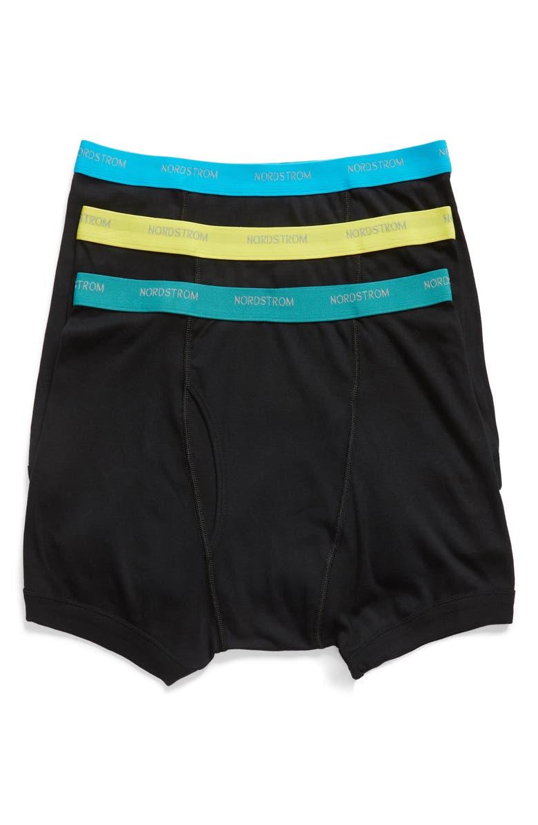 Nordstrom Men's Shop 3-Pack Supima® Cotton Boxer Briefs   Nordstrom