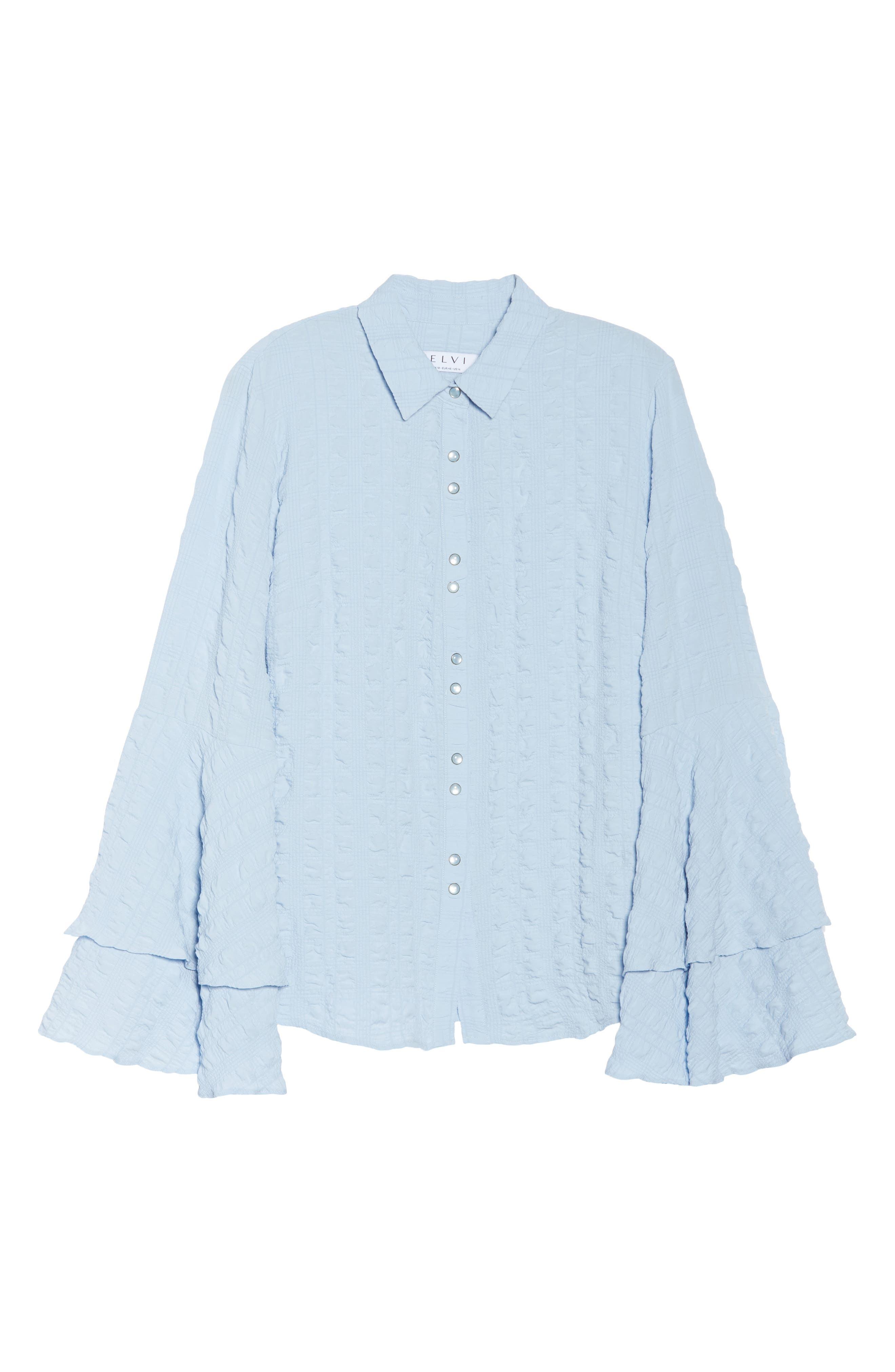 The Tuva Bell Sleeve Shirt,                             Alternate thumbnail 7, color,                             Blue