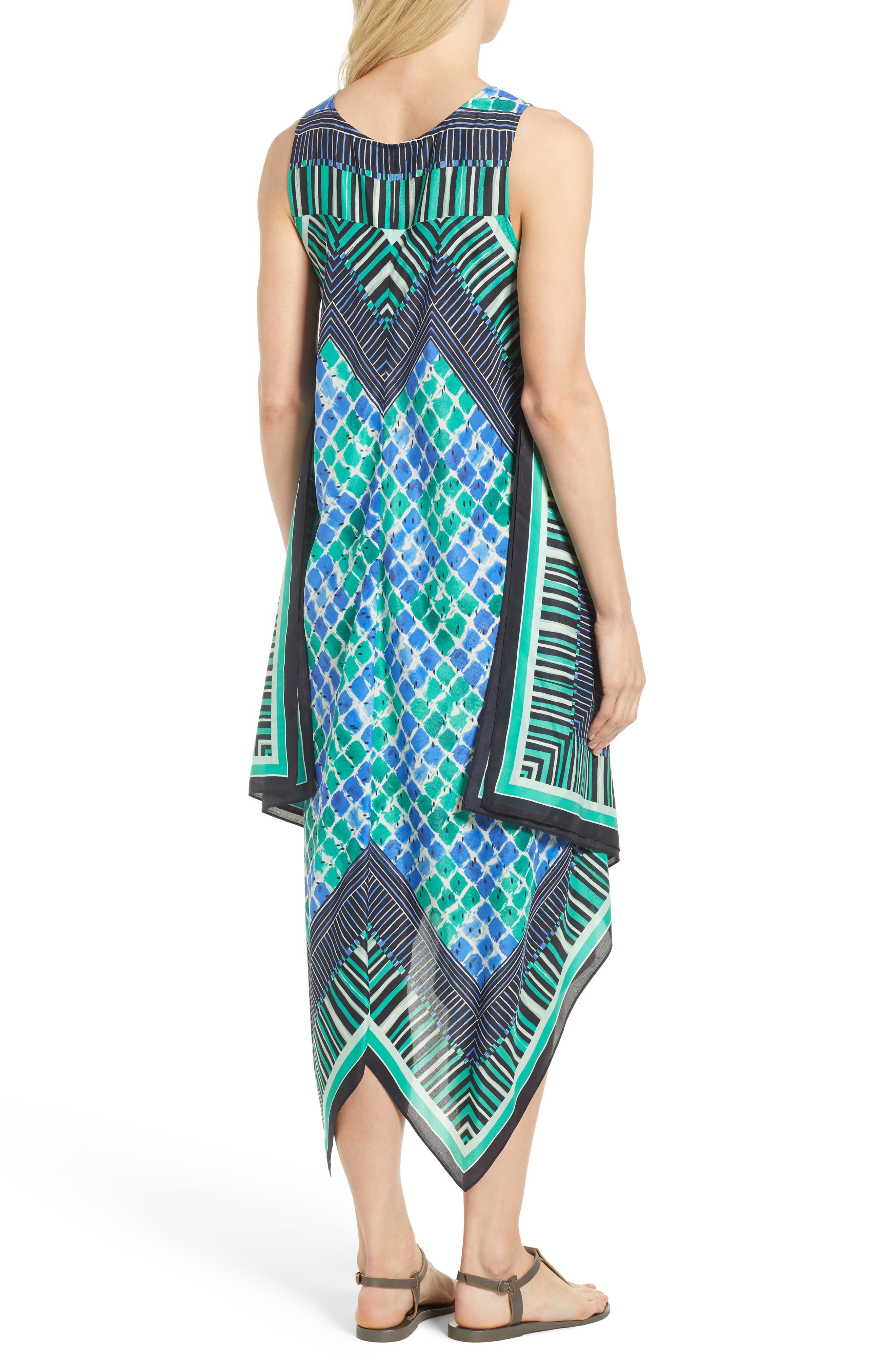 DJ VU Print Tank Dress,                             Alternate thumbnail 2, color,                             Multi