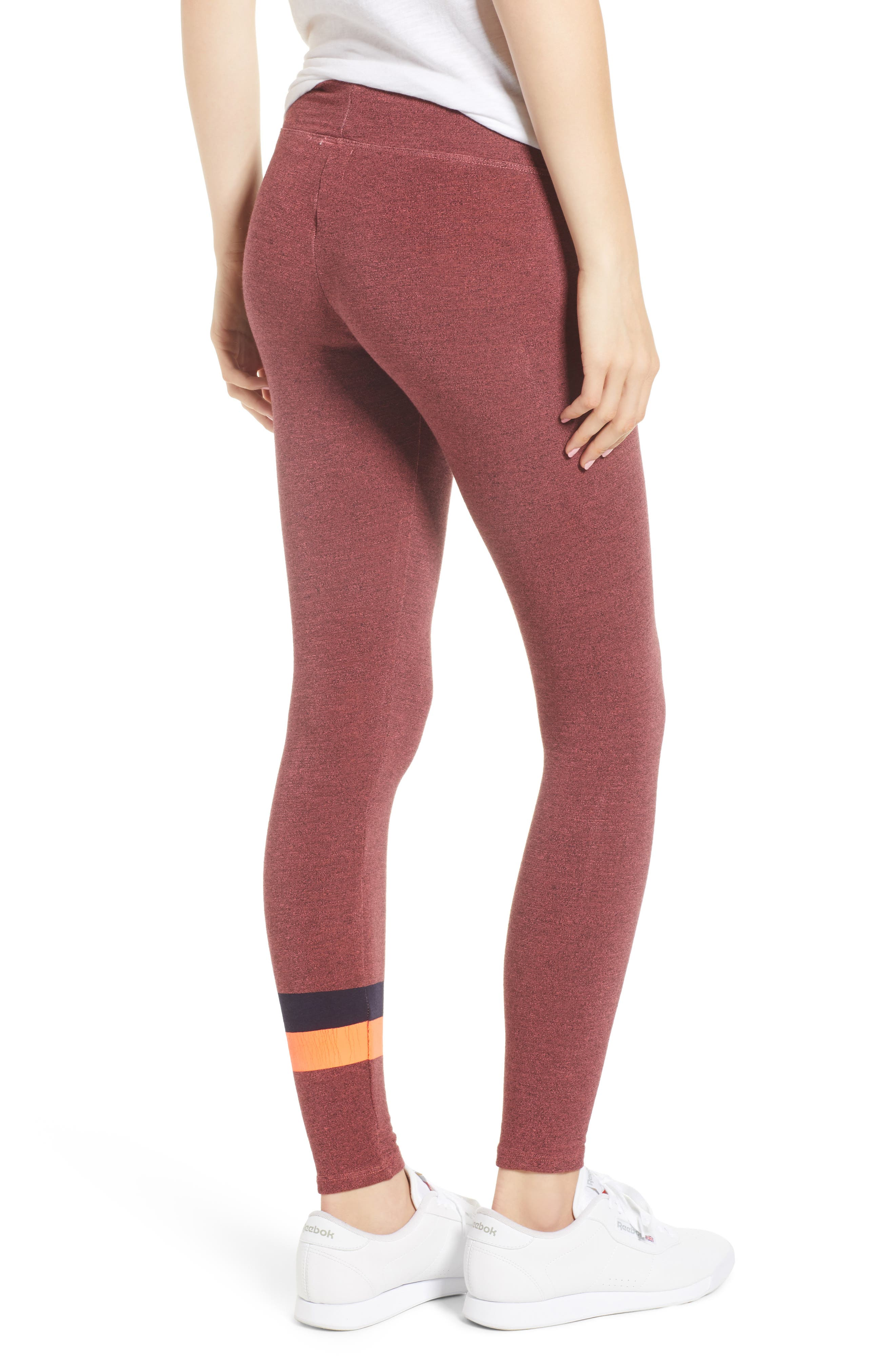 Active Stripe Yoga Pants,                             Alternate thumbnail 2, color,                             Hibiscus