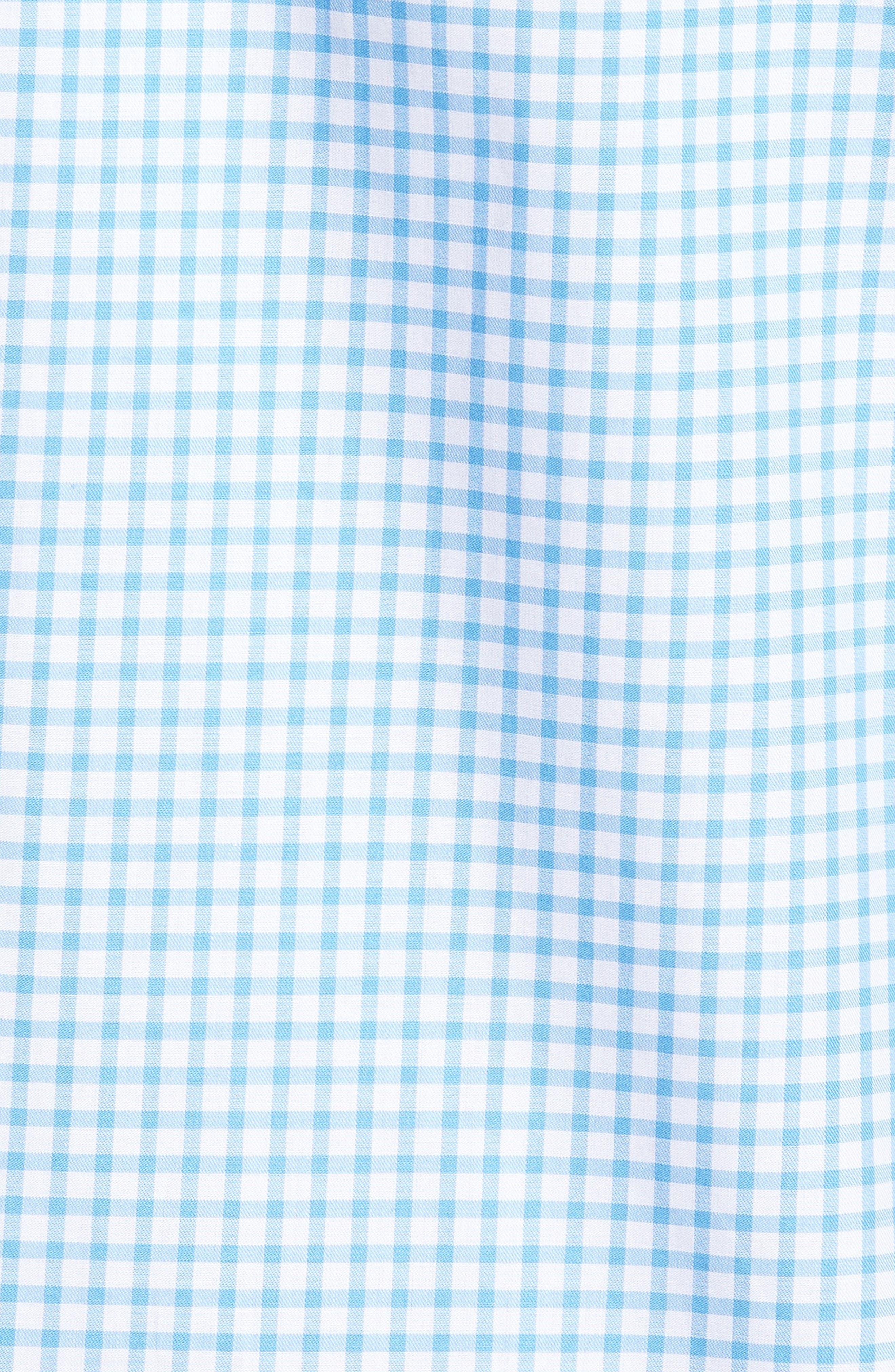 Slim Fit Check Sport Shirt,                             Alternate thumbnail 5, color,                             Light Blue