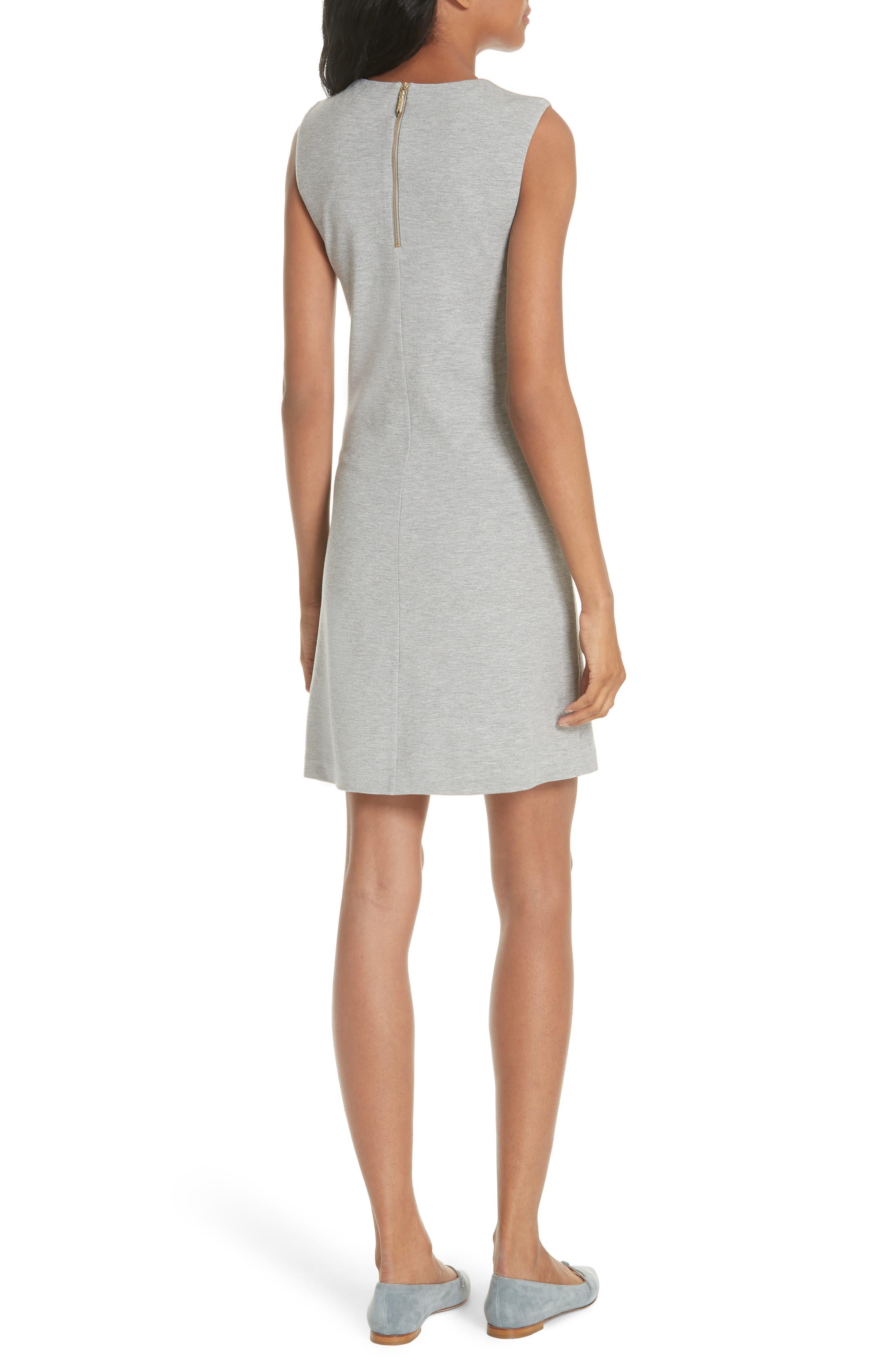 Evalina Tie Front Dress,                             Alternate thumbnail 2, color,                             Grey Marl