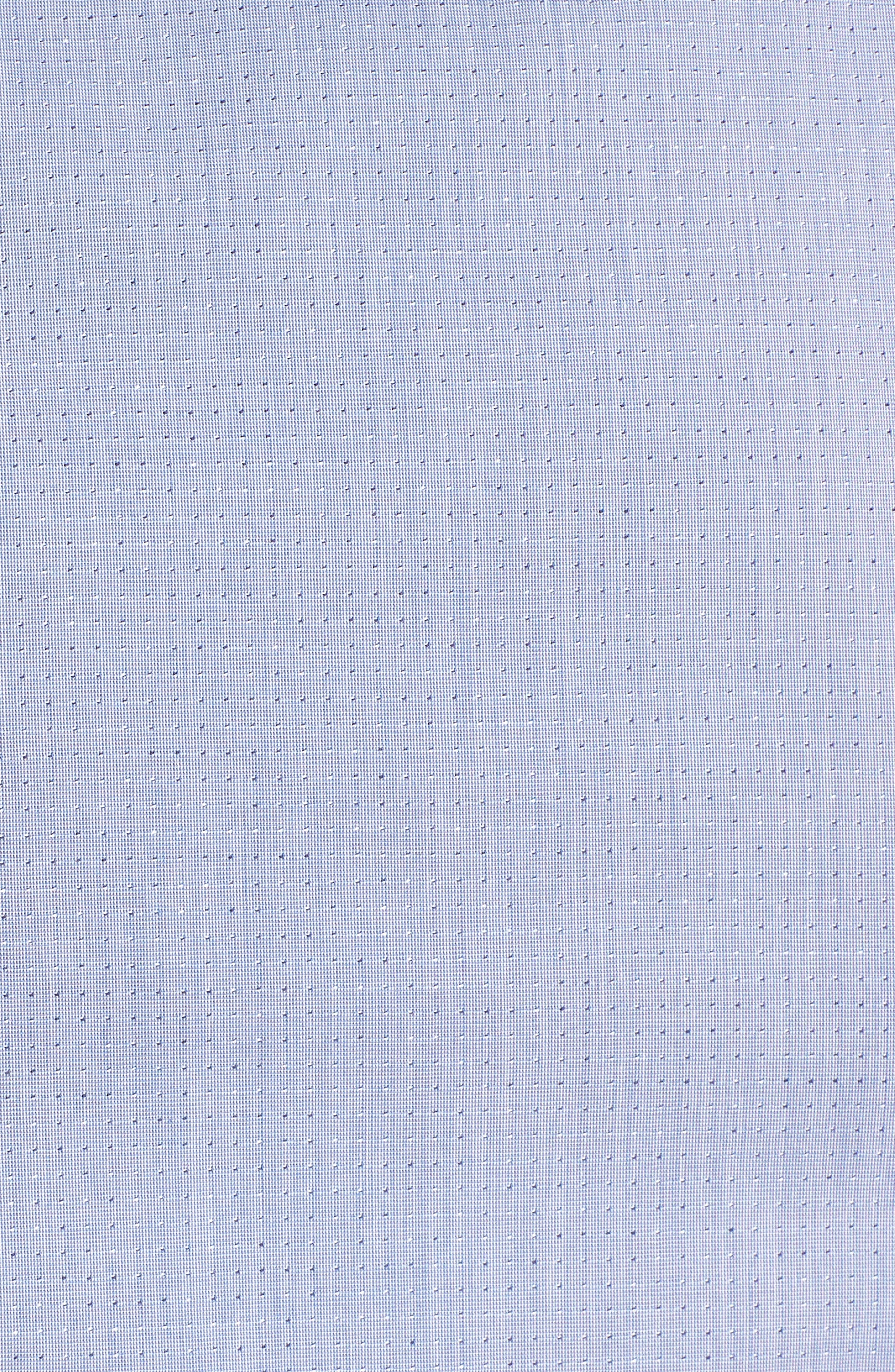 Regular Fit Dot Sport Shirt,                             Alternate thumbnail 5, color,                             Cadet Blue