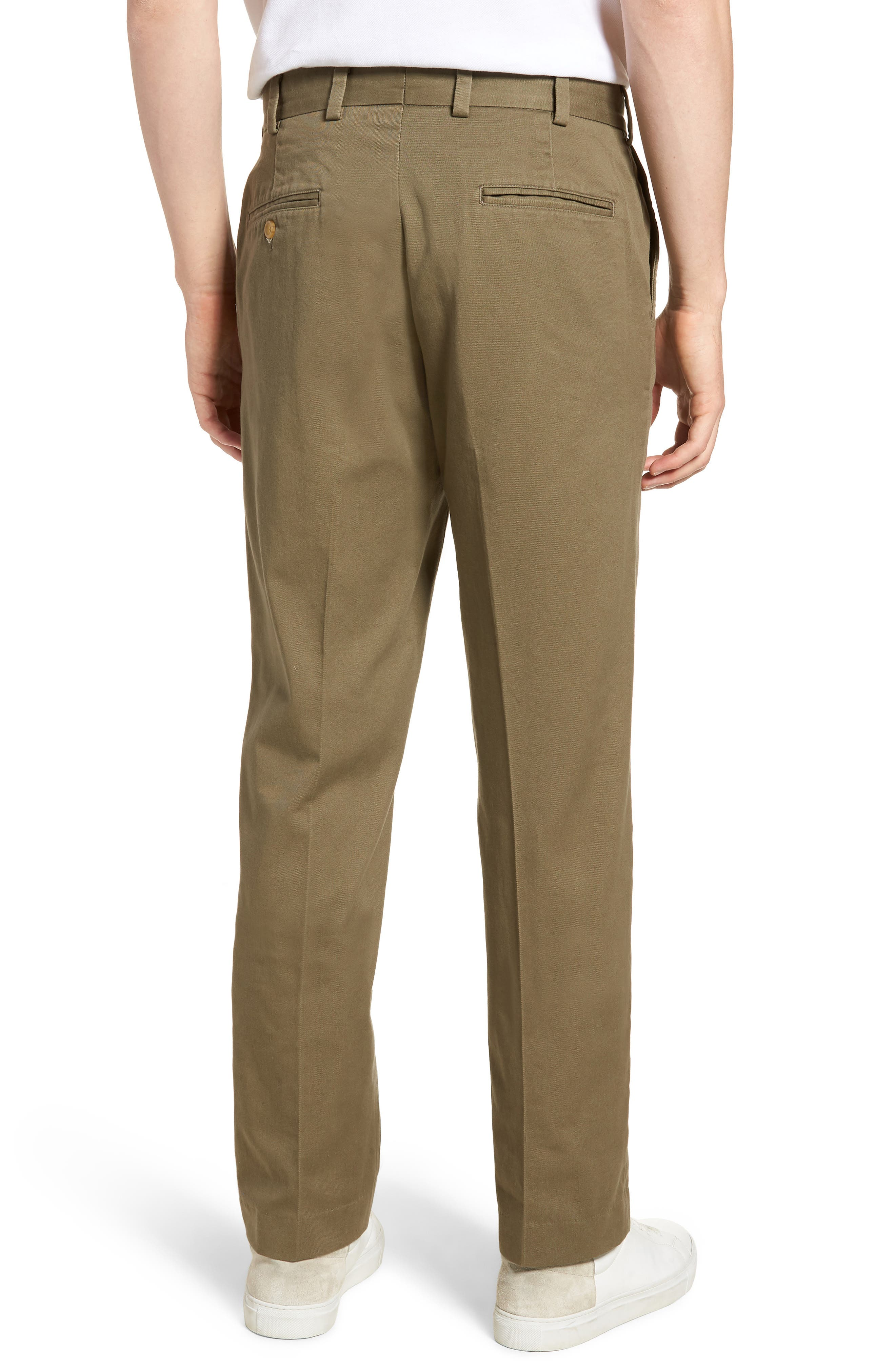 M3 Straight Fit Flat Front Vintage Twill Pants,                             Alternate thumbnail 2, color,                             Olive